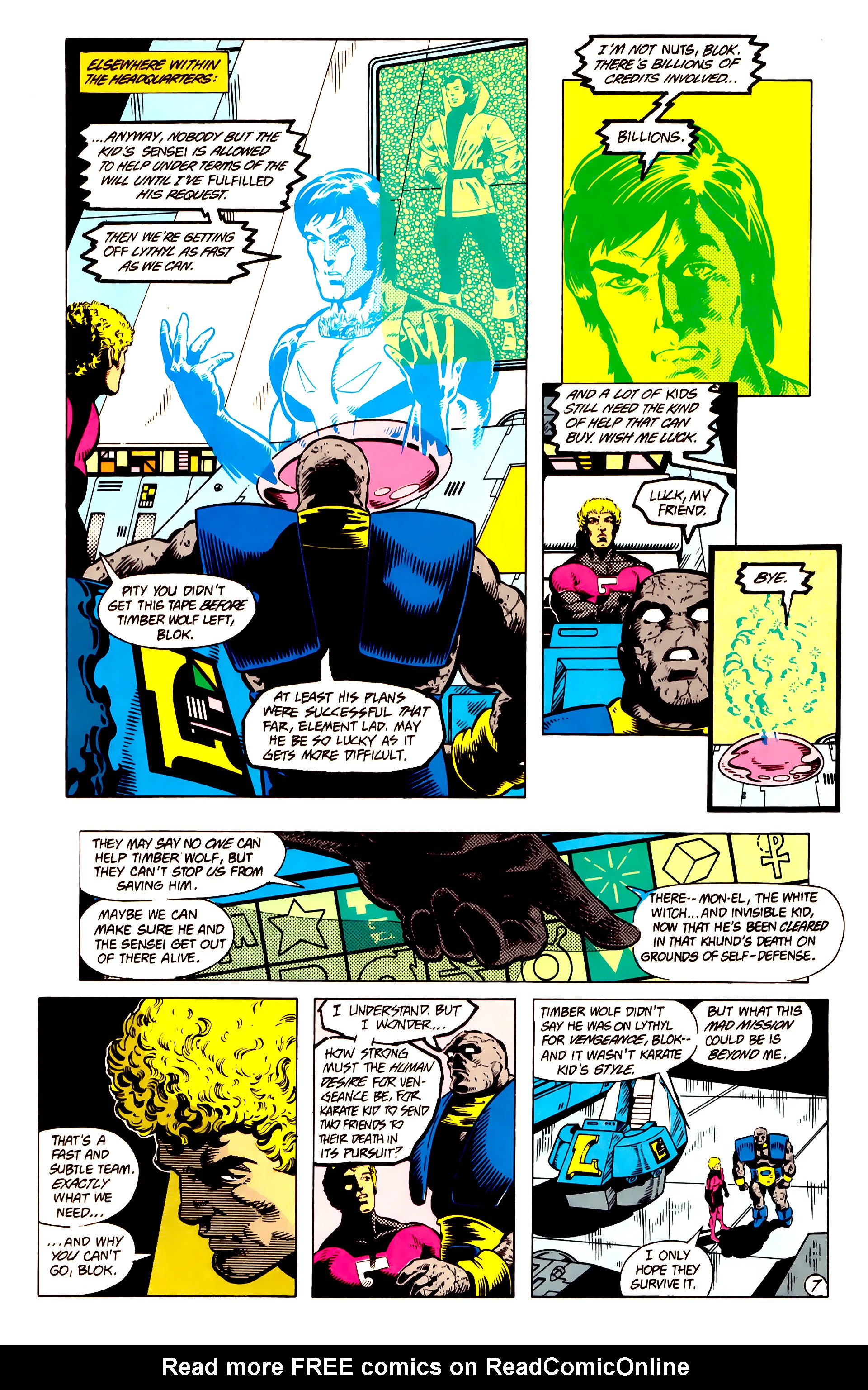 Legion of Super-Heroes (1984) 13 Page 8