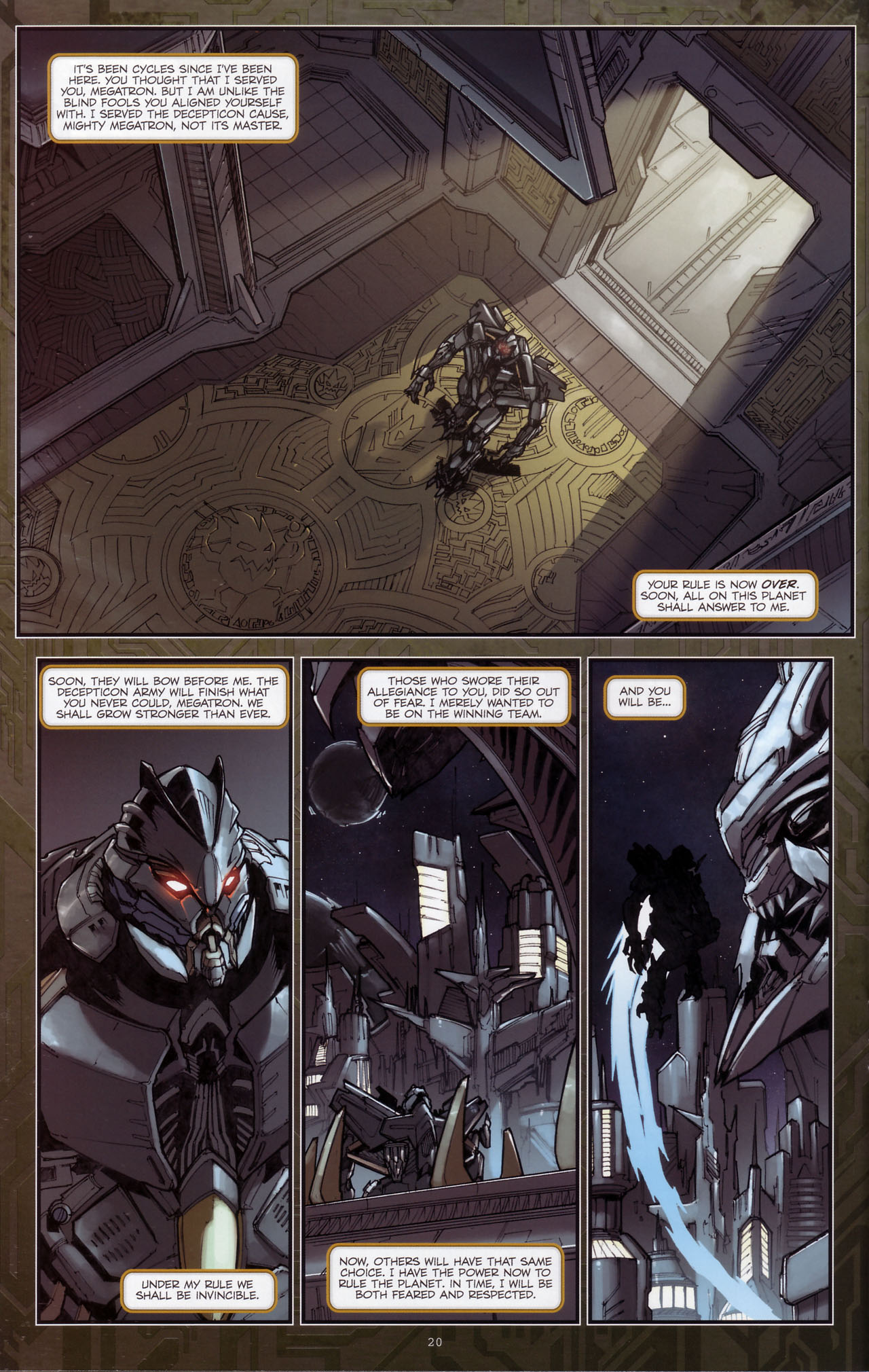 Read online Transformers: The Reign of Starscream comic -  Issue #3 - 21