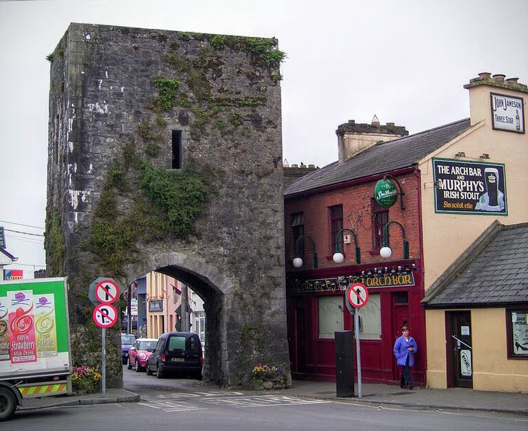 The Arch - part ofthe original town walls in Athenry, Co Galway