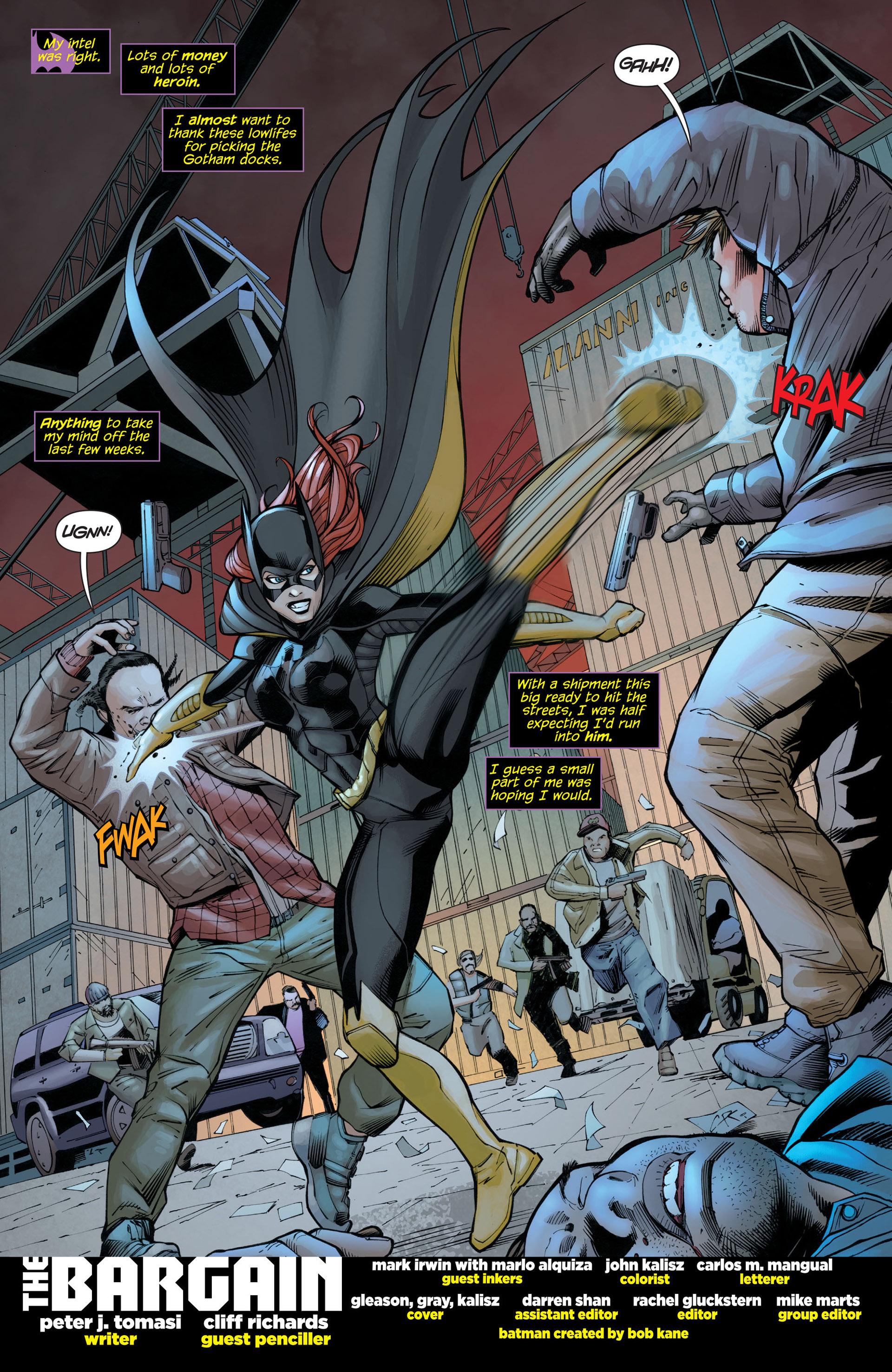 Read online Batman and Robin (2011) comic -  Issue #21 - Batman and Batgirl - 2
