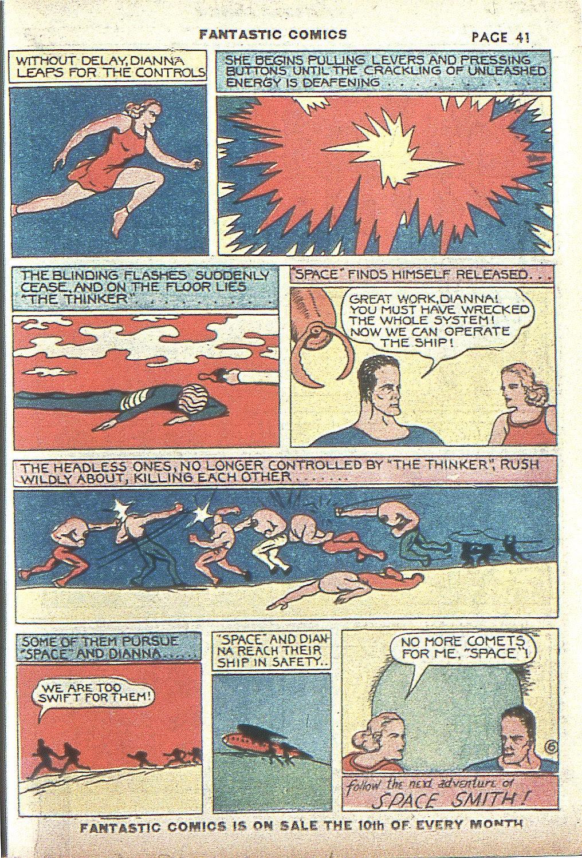 Read online Fantastic Comics comic -  Issue #4 - 42