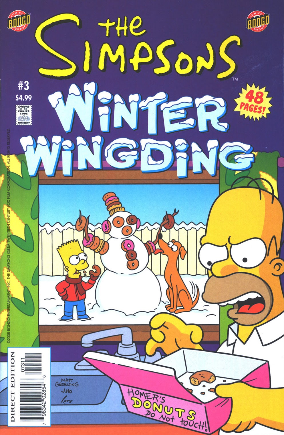 Read online The Simpsons Winter Wingding comic -  Issue #3 - 1