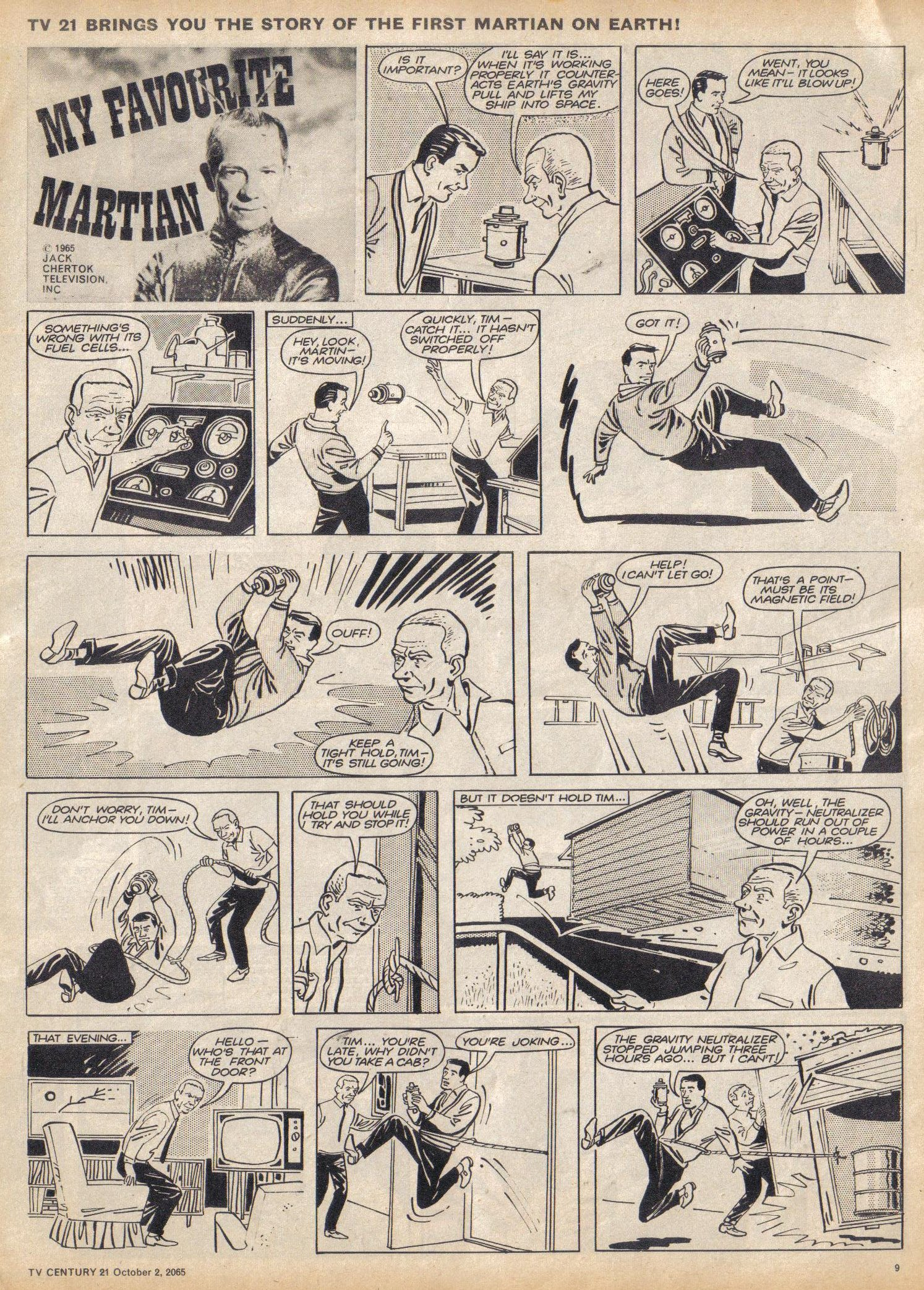 Read online TV Century 21 (TV 21) comic -  Issue #37 - 9