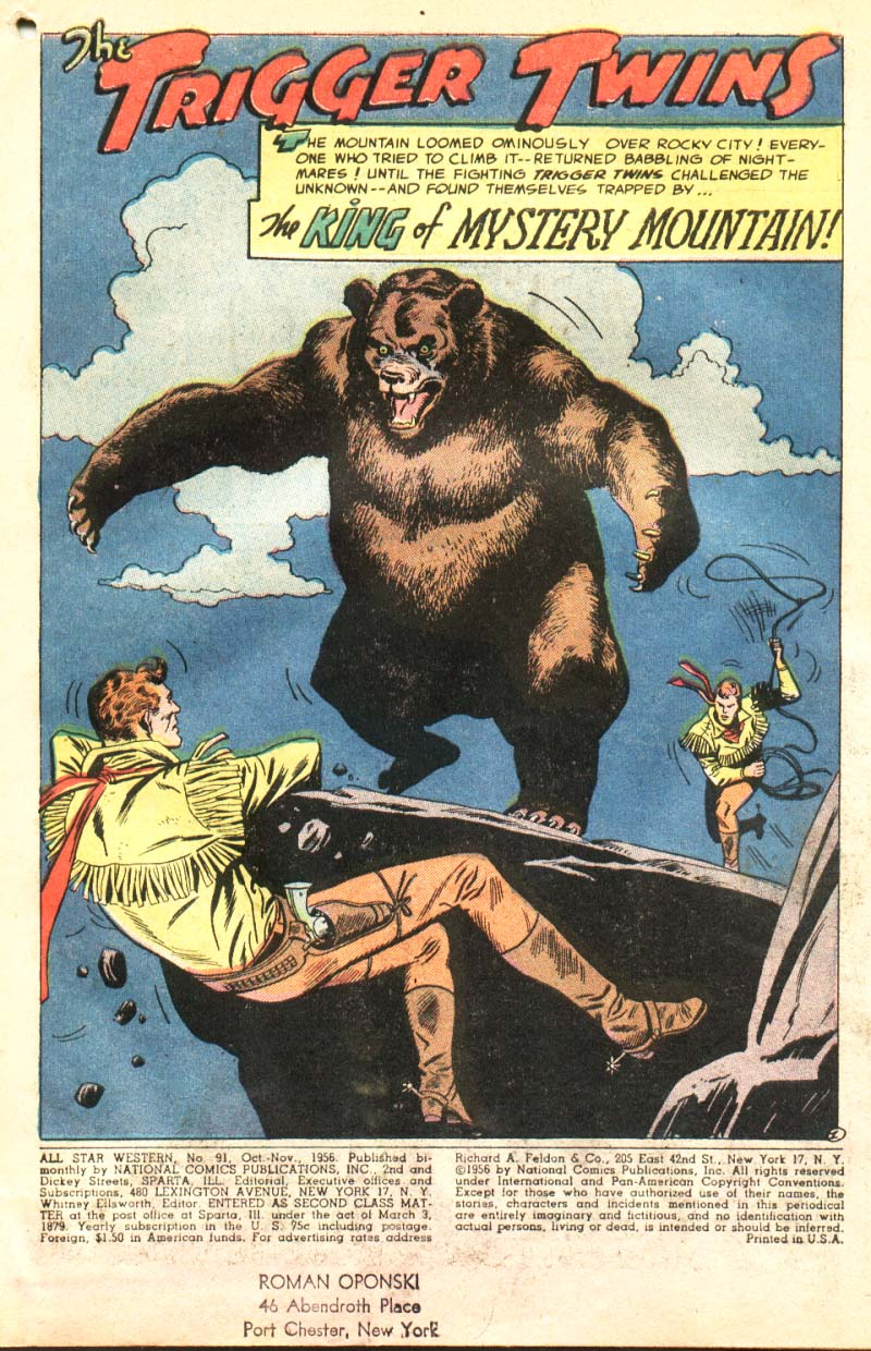 Read online All-Star Western (1951) comic -  Issue #91 - 2