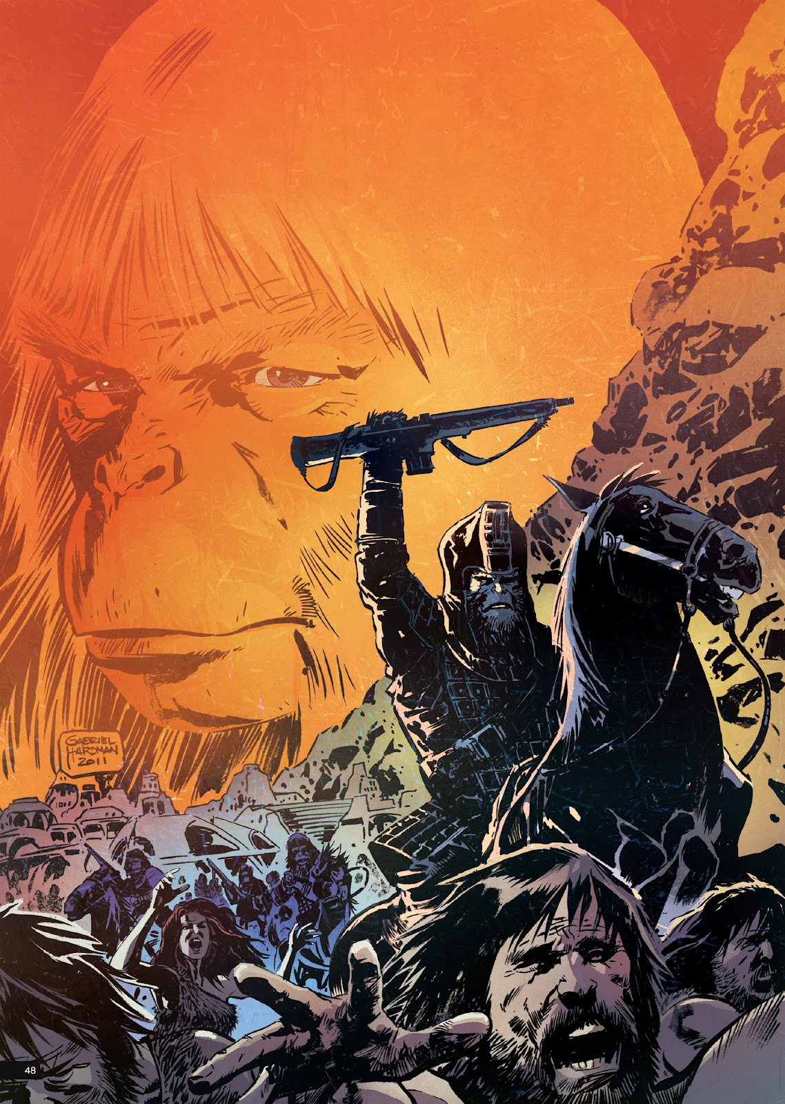 Read online Planet of the Apes Artist Tribute comic -  Issue # TPB - 48