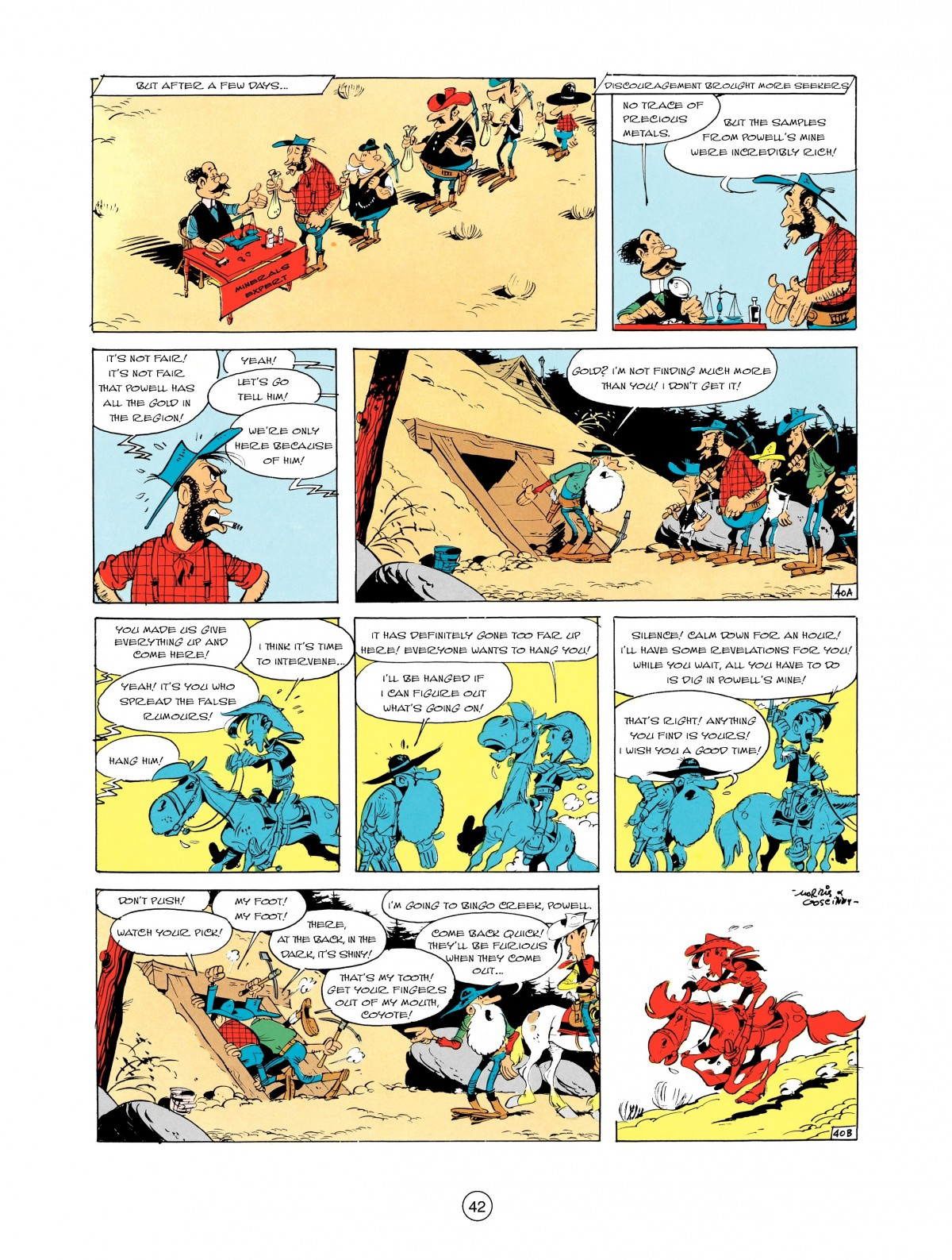 Read online A Lucky Luke Adventure comic -  Issue #2 - 44