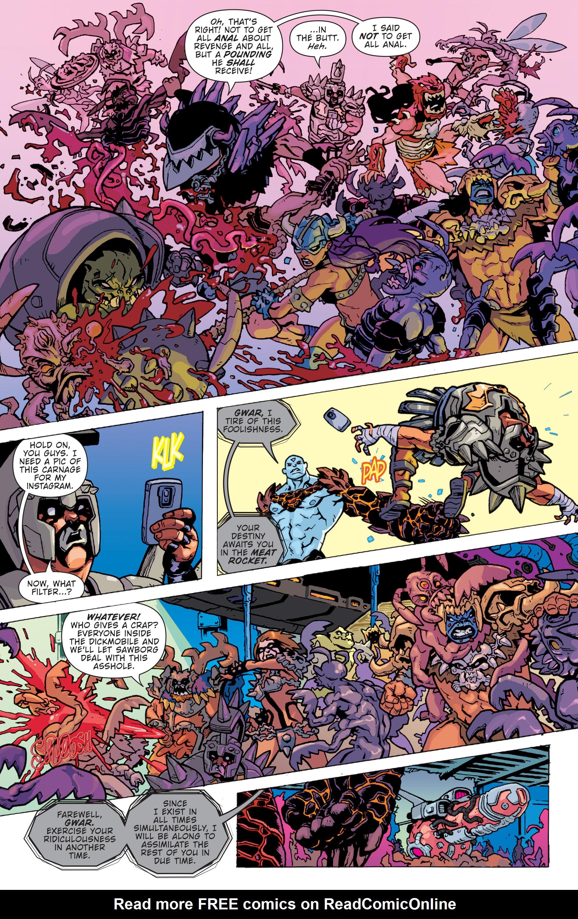 Read online Gwar: Orgasmageddon comic -  Issue #1 - 8