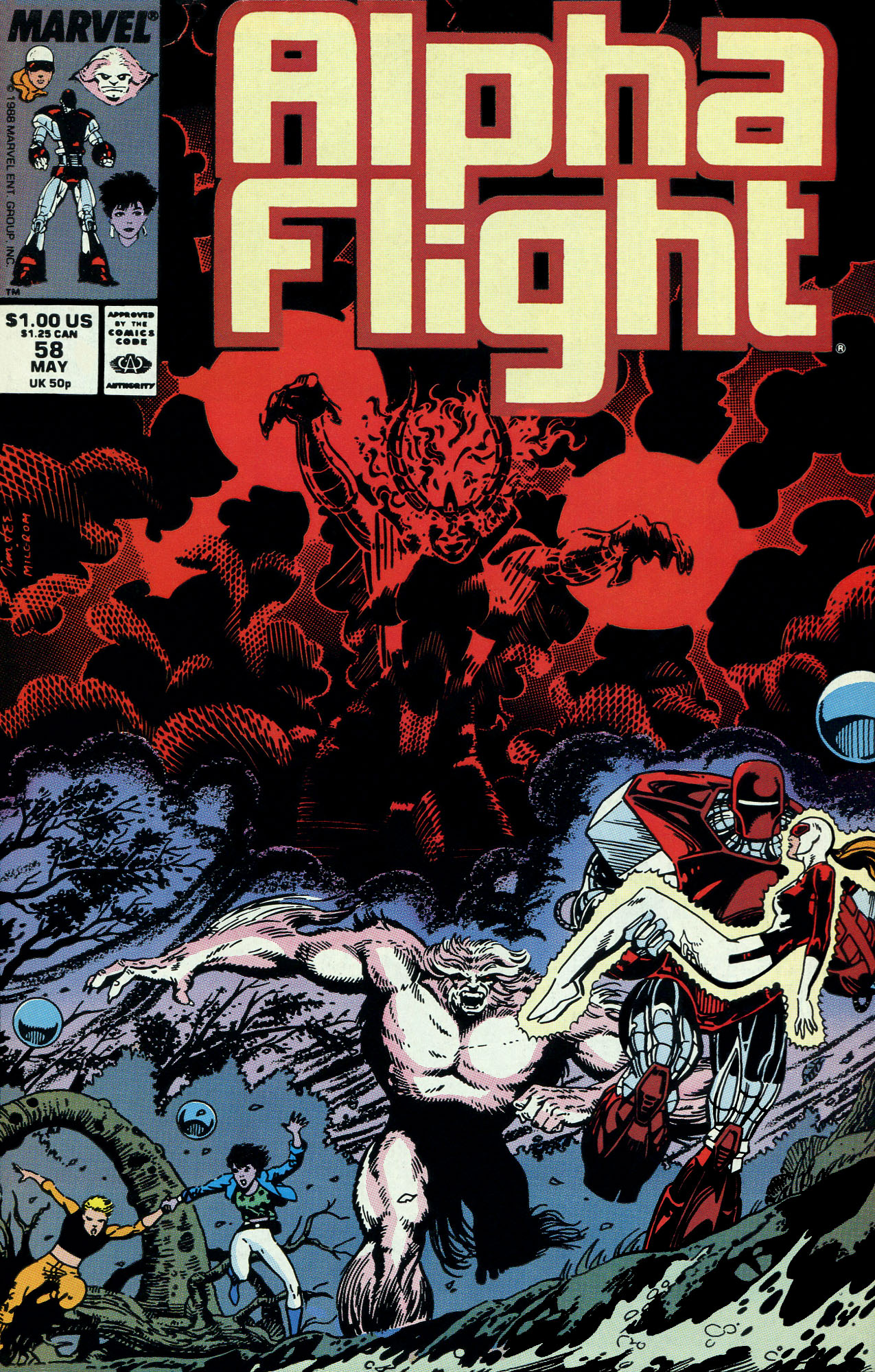 Read online Alpha Flight (1983) comic -  Issue #58 - 1