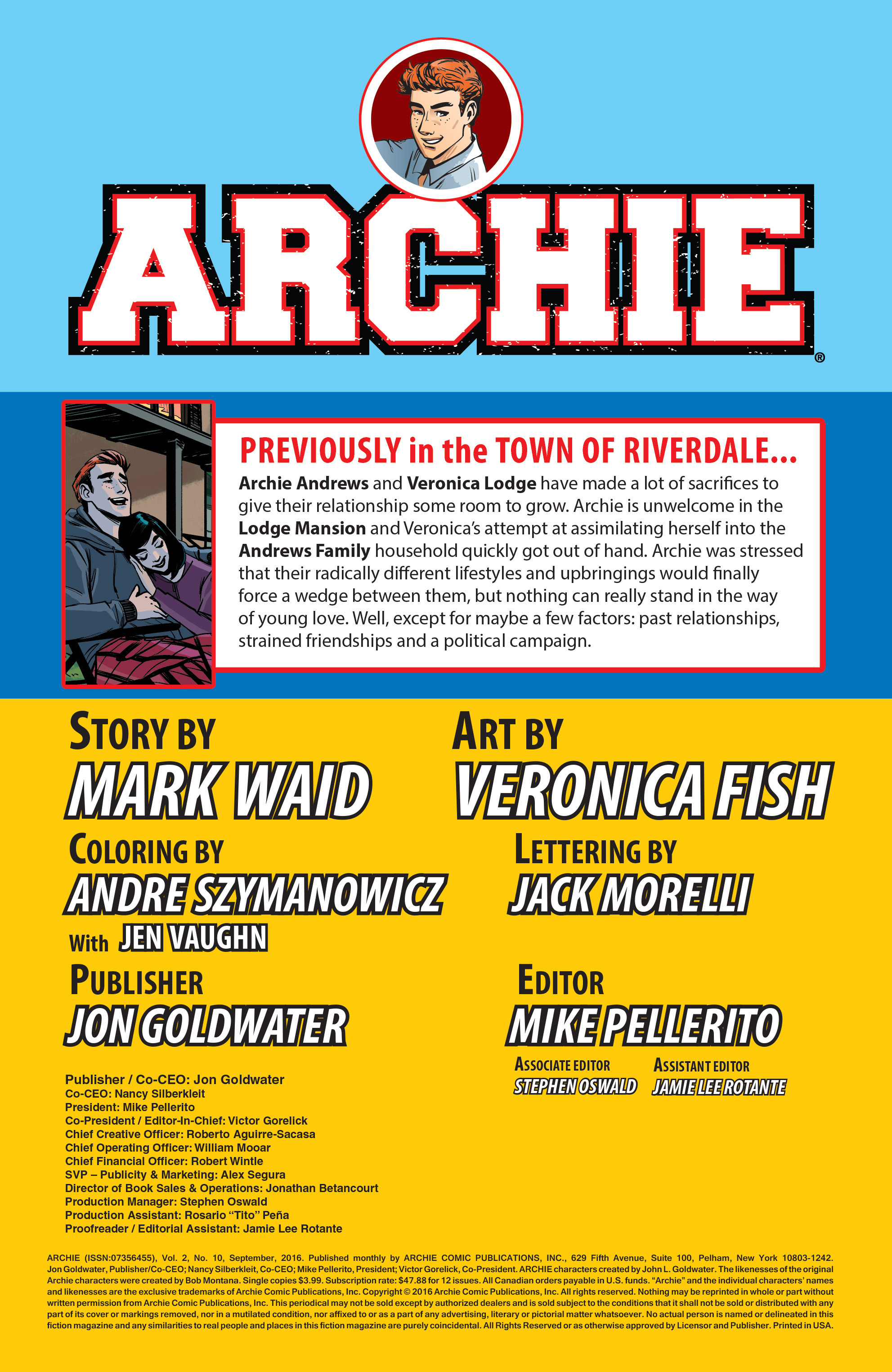 Read online Archie (2015) comic -  Issue #10 - 2