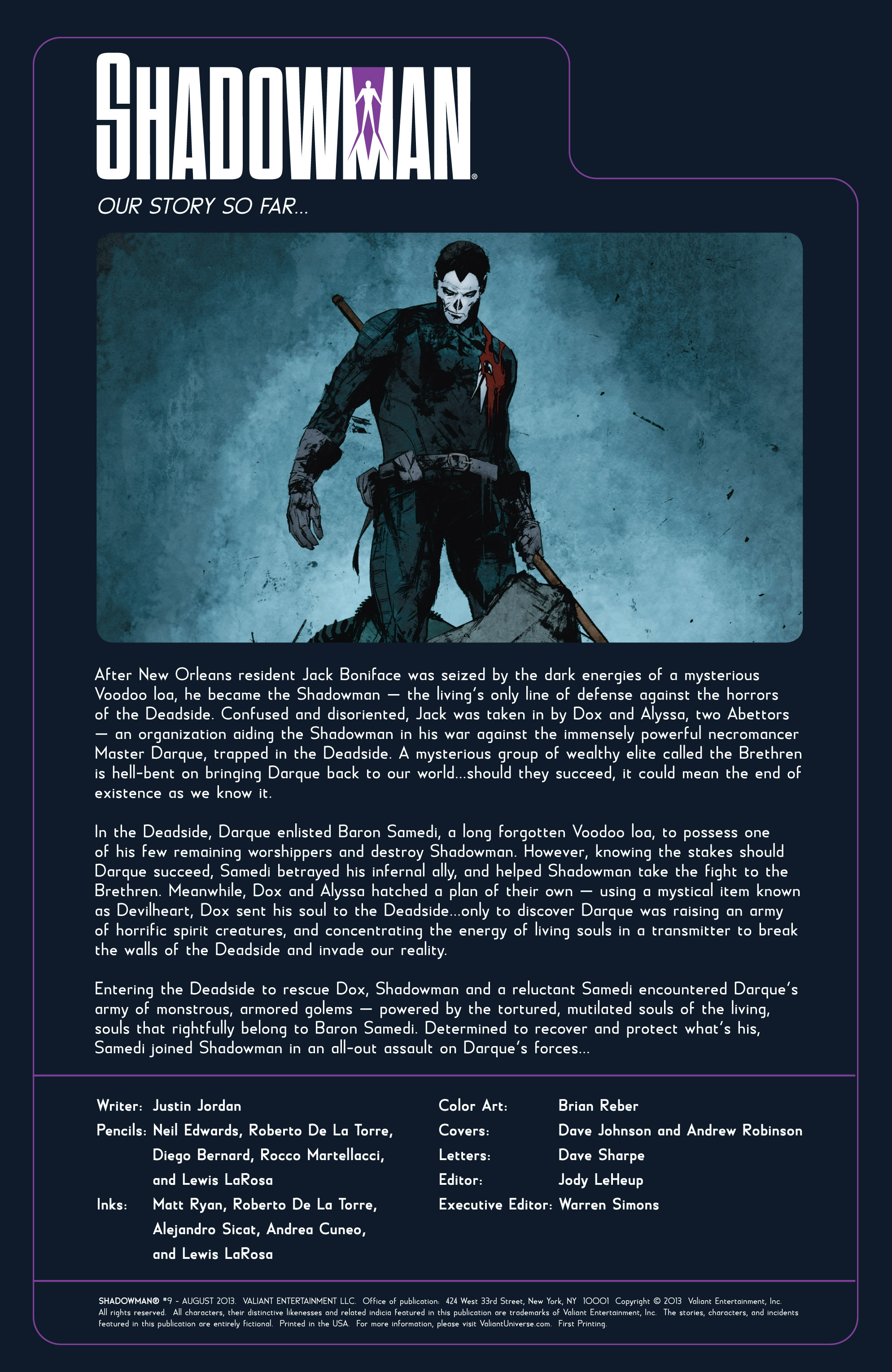 Read online Shadowman (2012) comic -  Issue #9 - 2