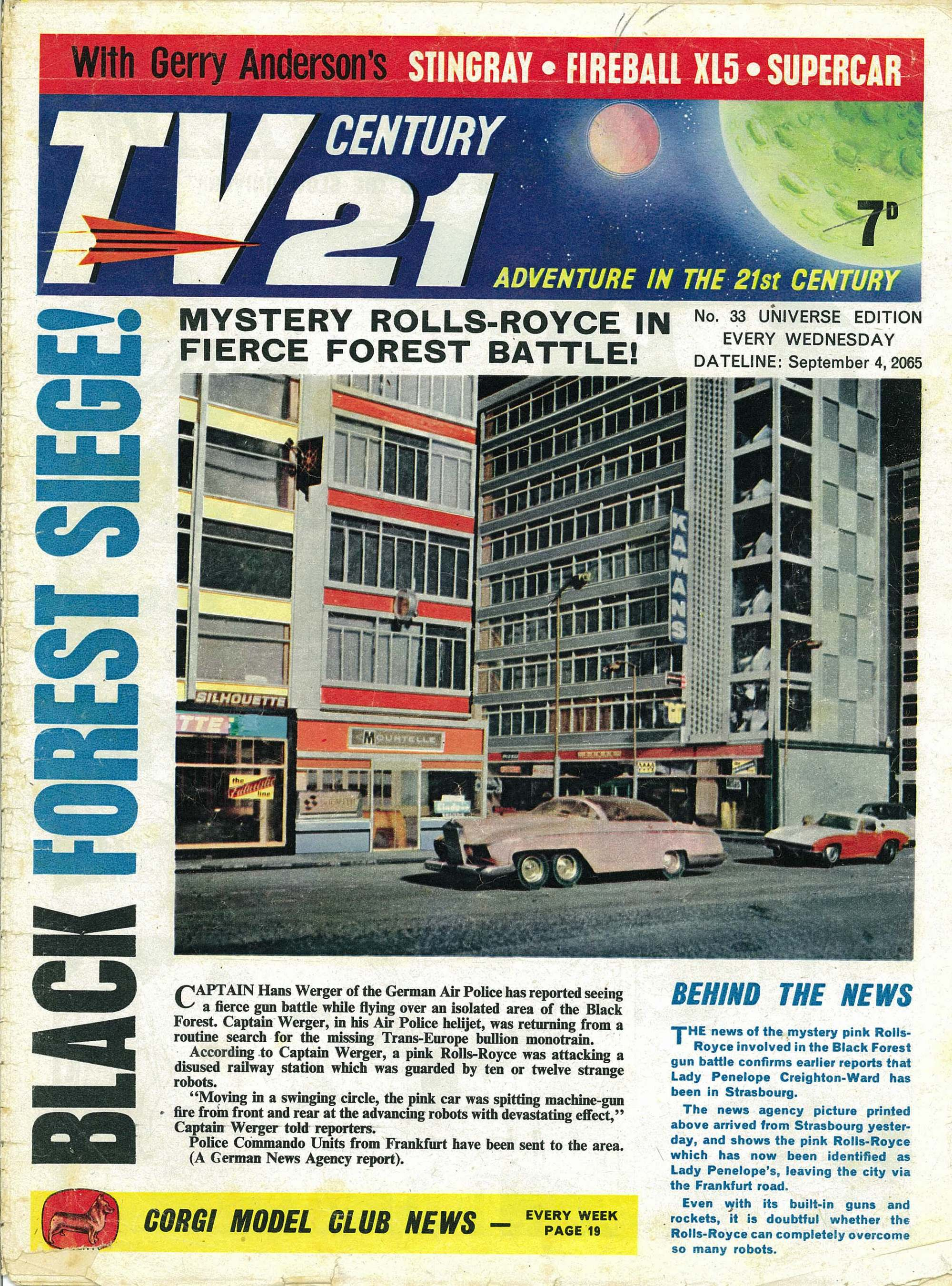 Read online TV Century 21 (TV 21) comic -  Issue #33 - 1