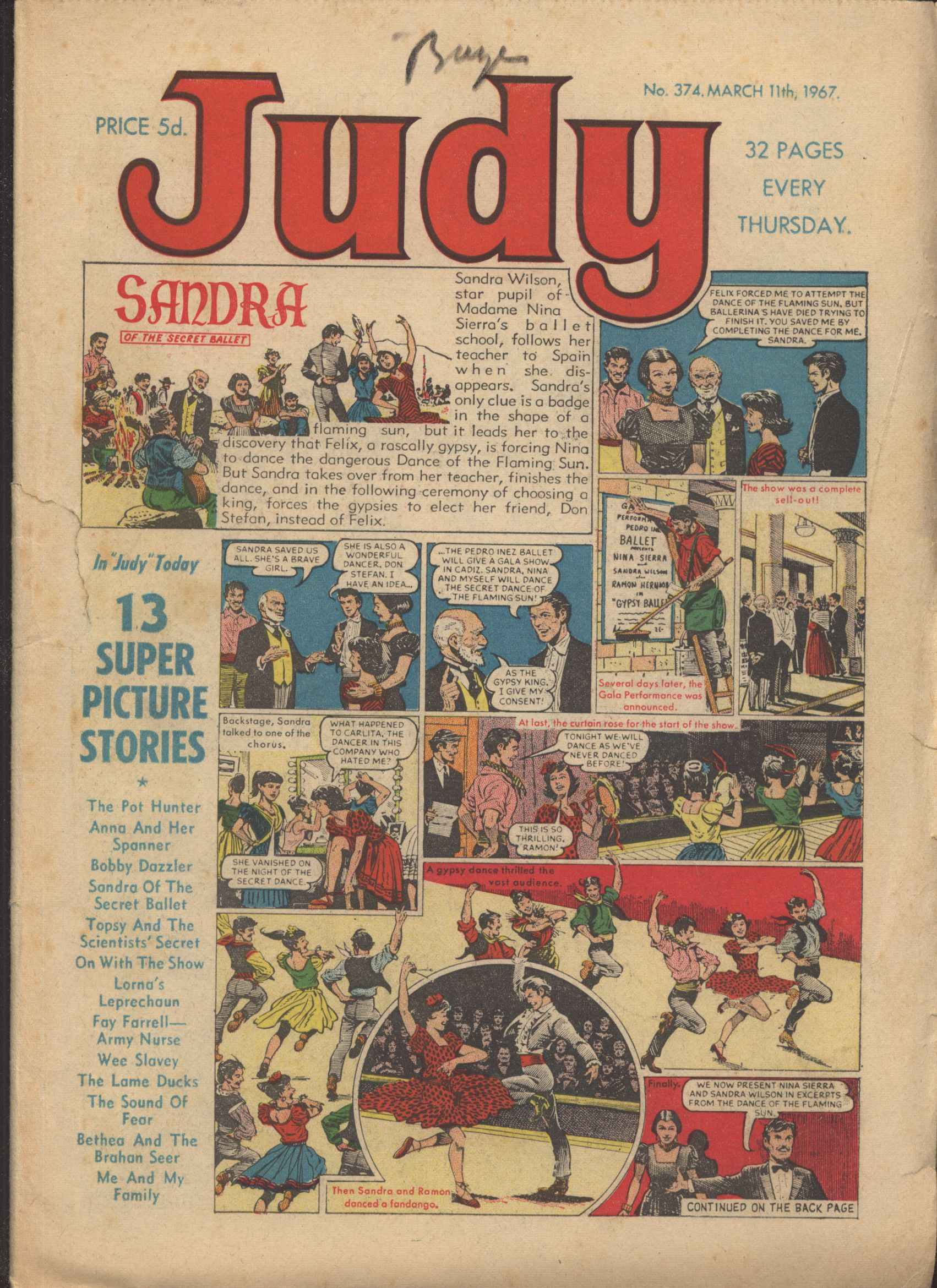 Read online Judy comic -  Issue #374 - 1