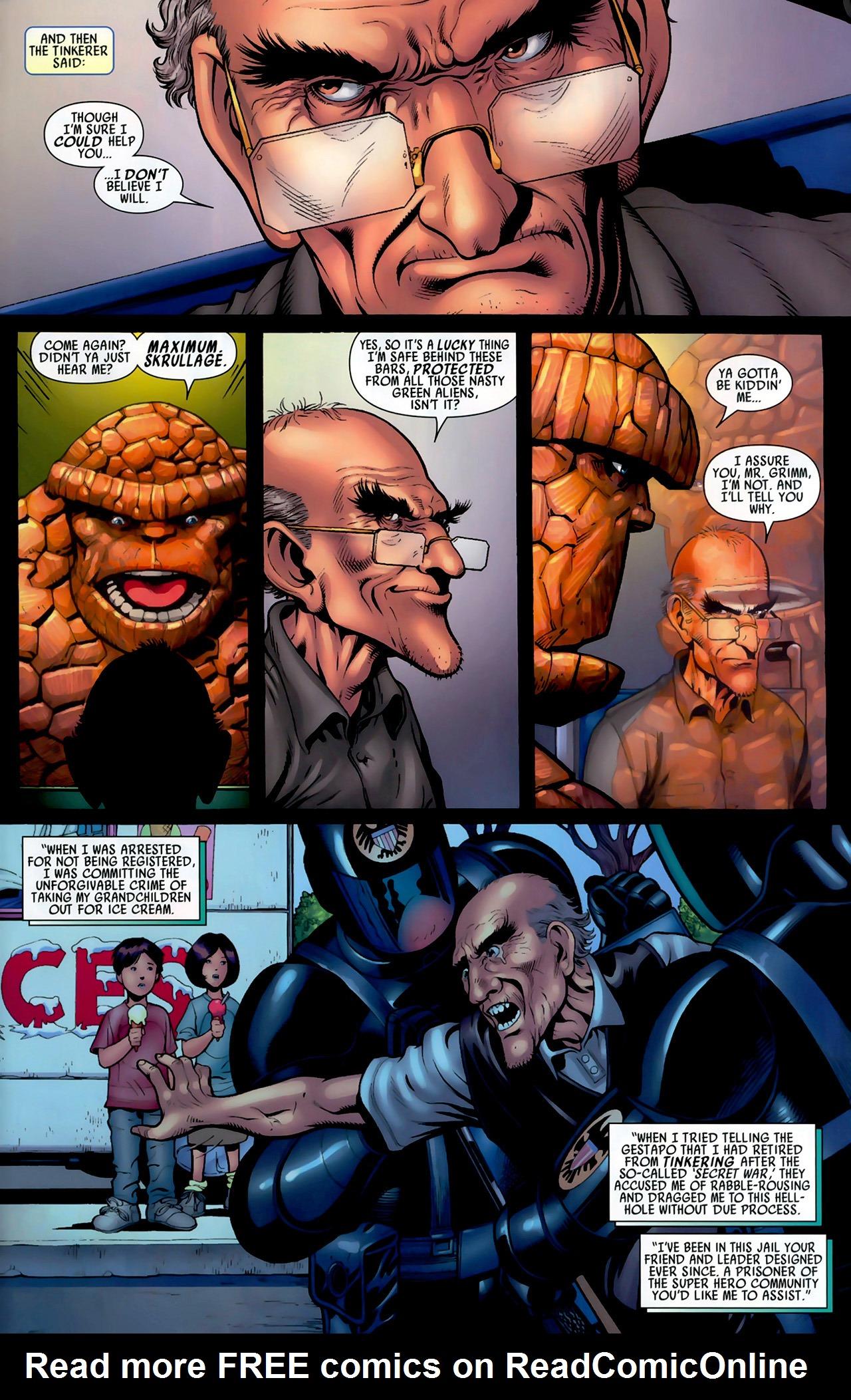 Read online Secret Invasion: Fantastic Four comic -  Issue #3 - 18