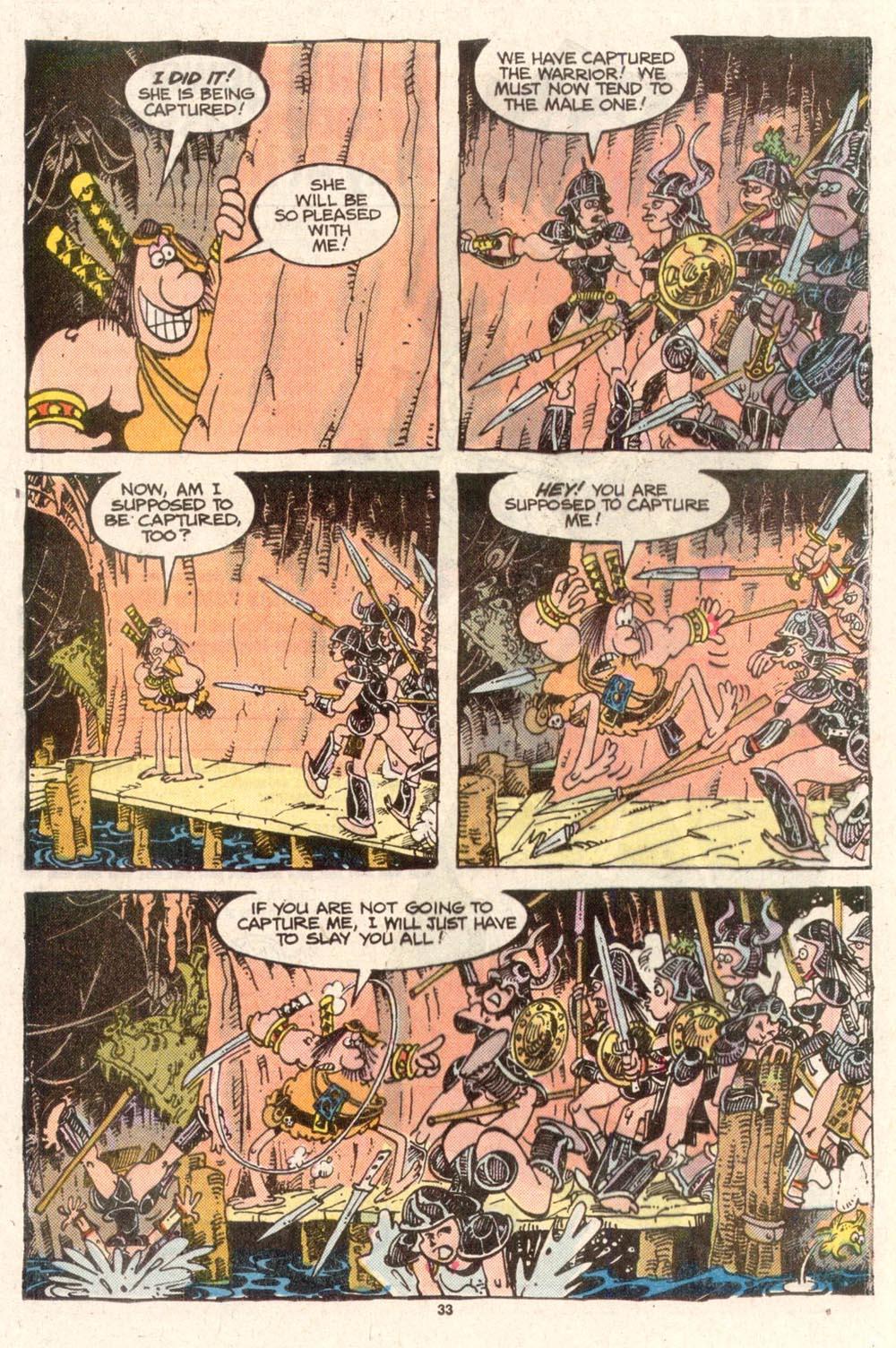 Read online Sergio Aragonés Groo the Wanderer comic -  Issue #50 - 33