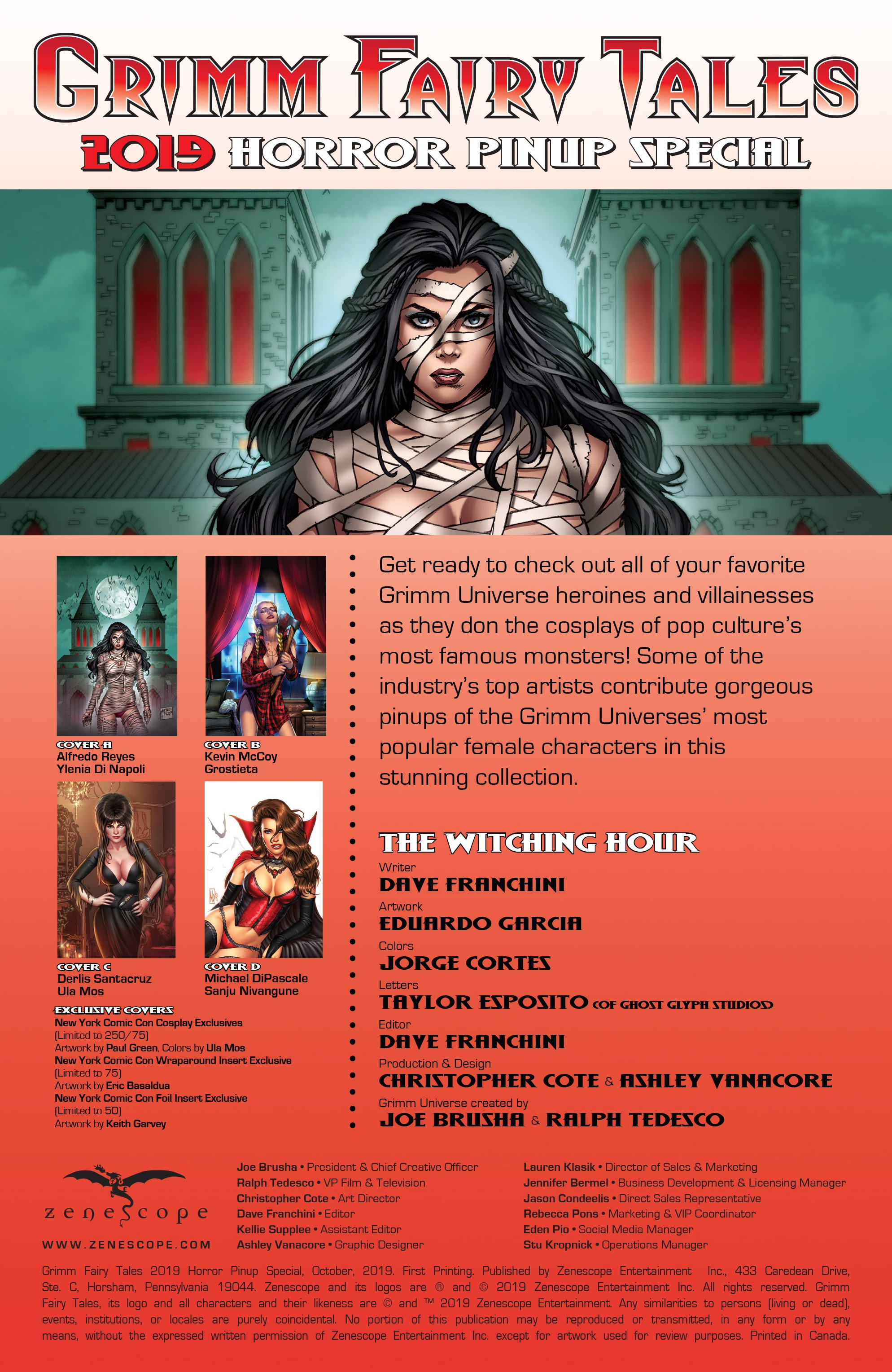 Grimm Fairy Tales 2019 Horror Pinup Special Full Page 2