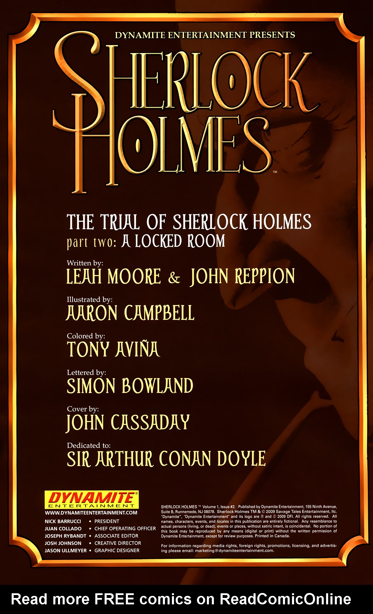 Read online Sherlock Holmes (2009) comic -  Issue #2 - 2