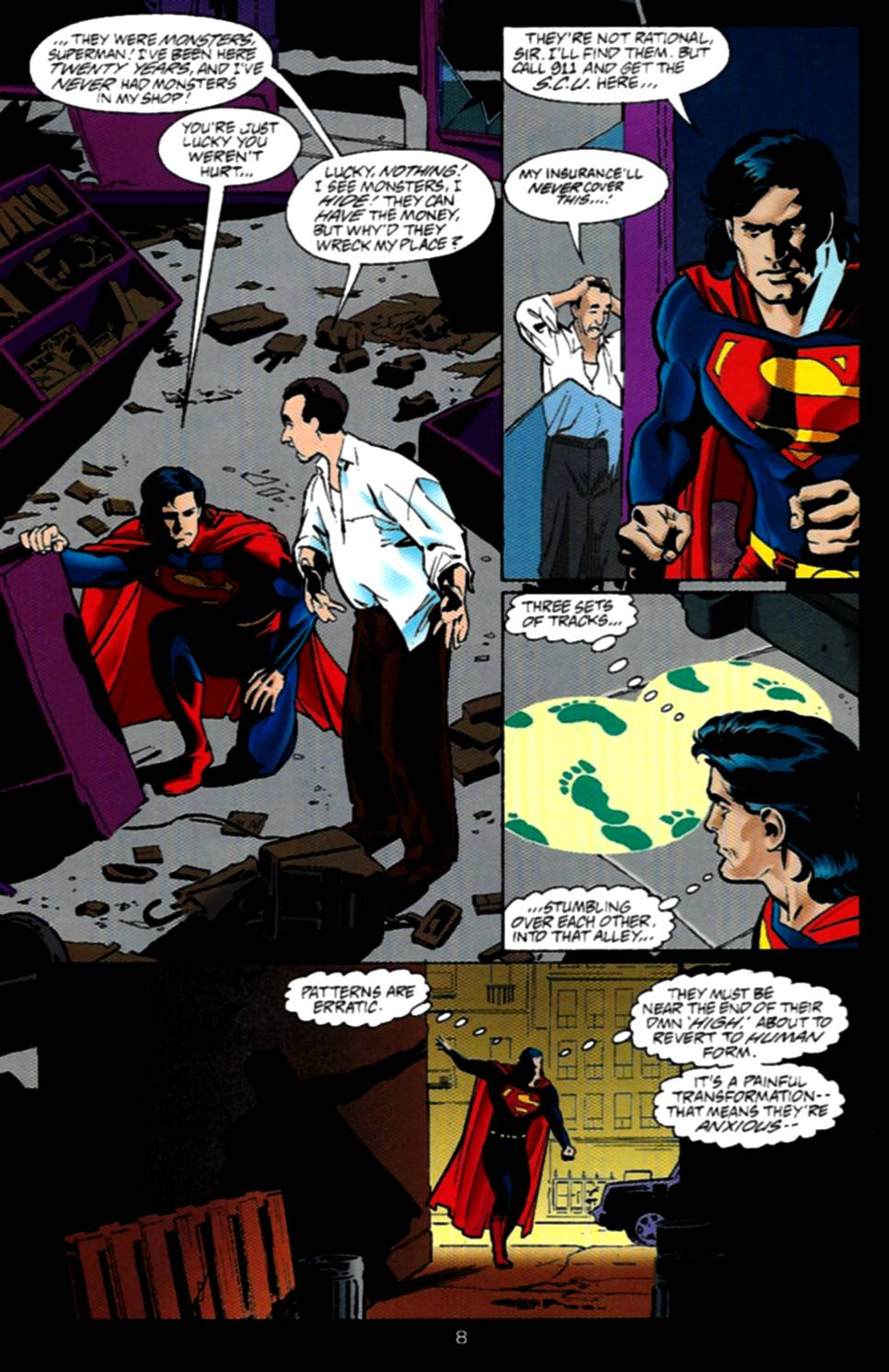 Read online Adventures of Superman (1987) comic -  Issue #534 - 9