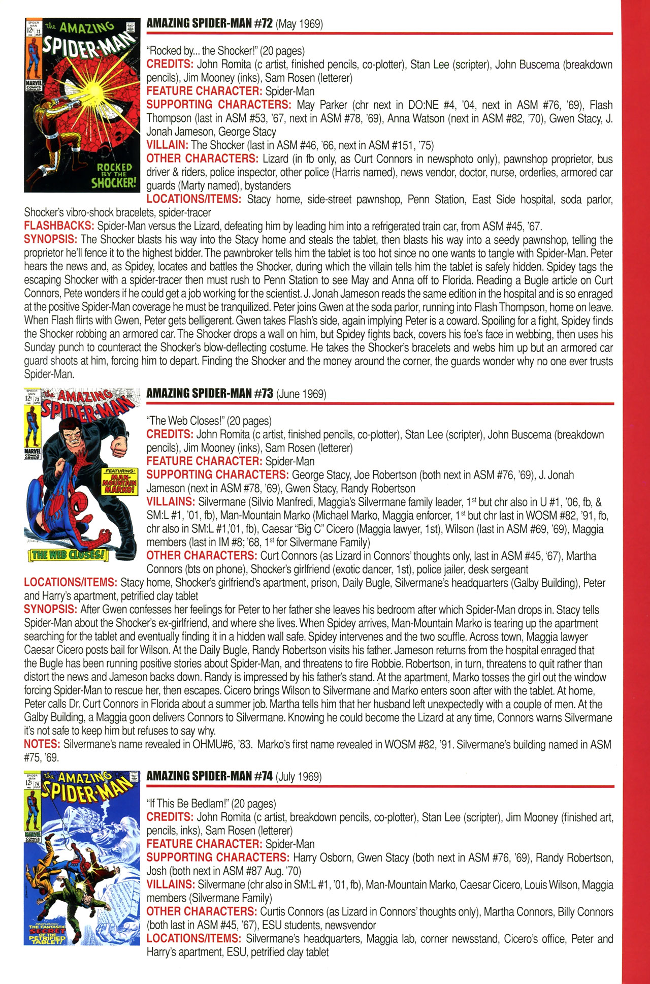 Read online Official Index to the Marvel Universe comic -  Issue #2 - 11