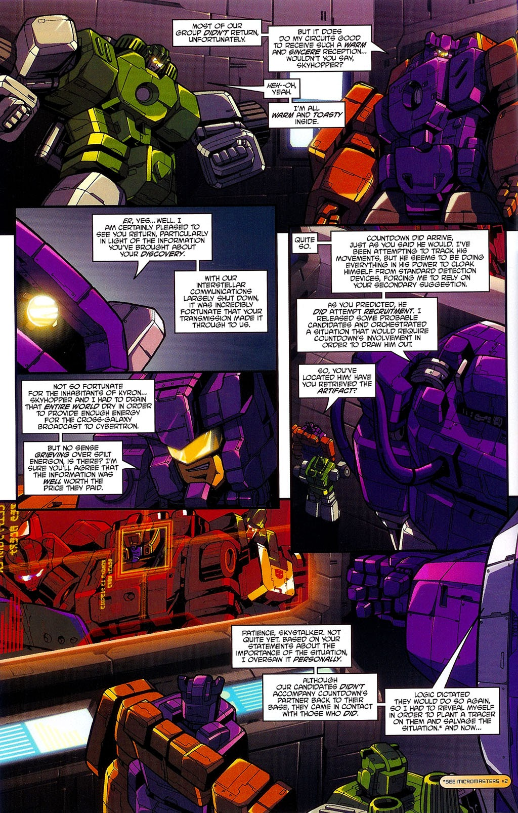 Read online Transformers: Micromasters comic -  Issue #3 - 4