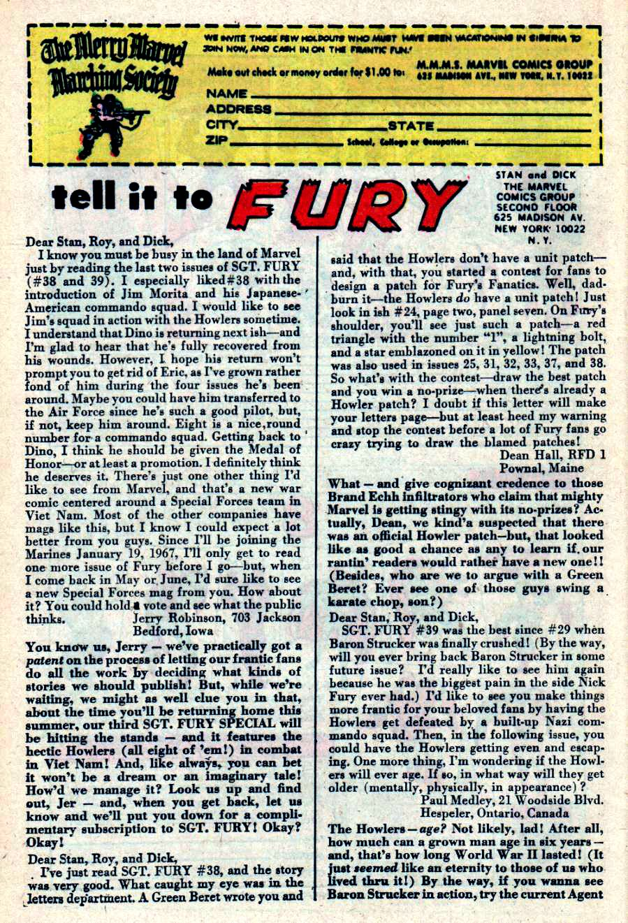 Read online Sgt. Fury comic -  Issue #42 - 32