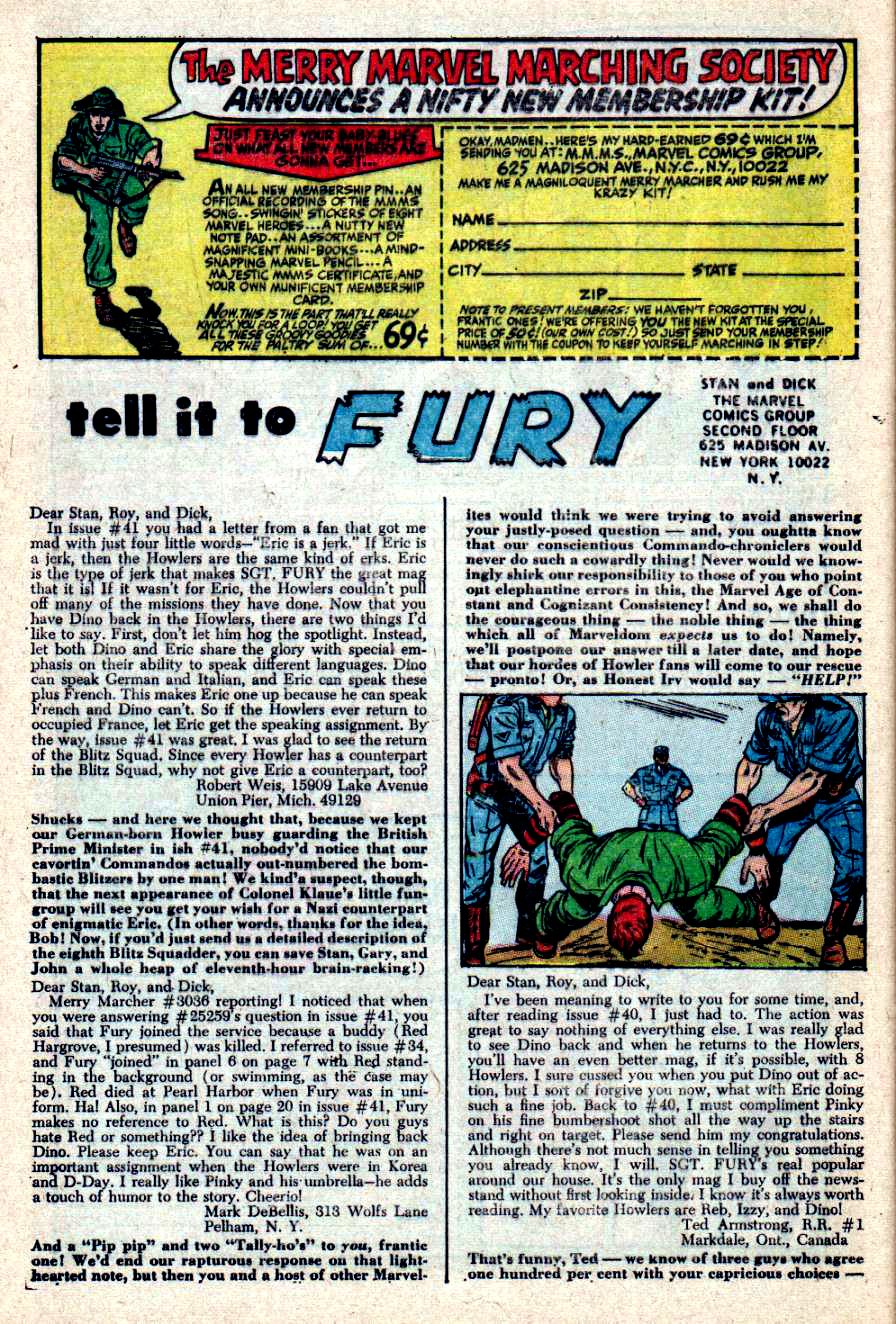Read online Sgt. Fury comic -  Issue #44 - 32