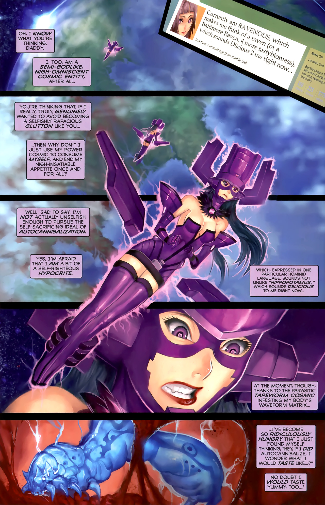 Read online Galacta: Daughter of Galactus comic -  Issue # Full - 18