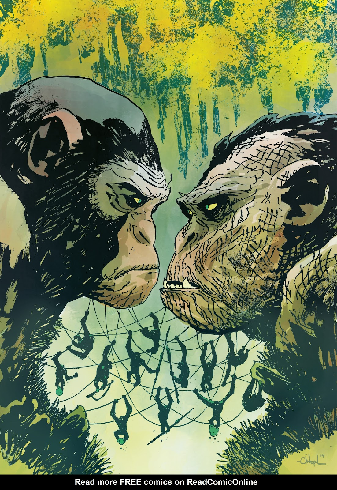 Read online Planet of the Apes Artist Tribute comic -  Issue # TPB - 93