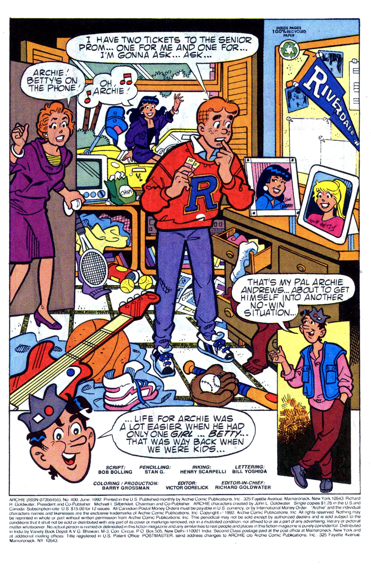 Read online Archie (1960) comic -  Issue #400 - 3