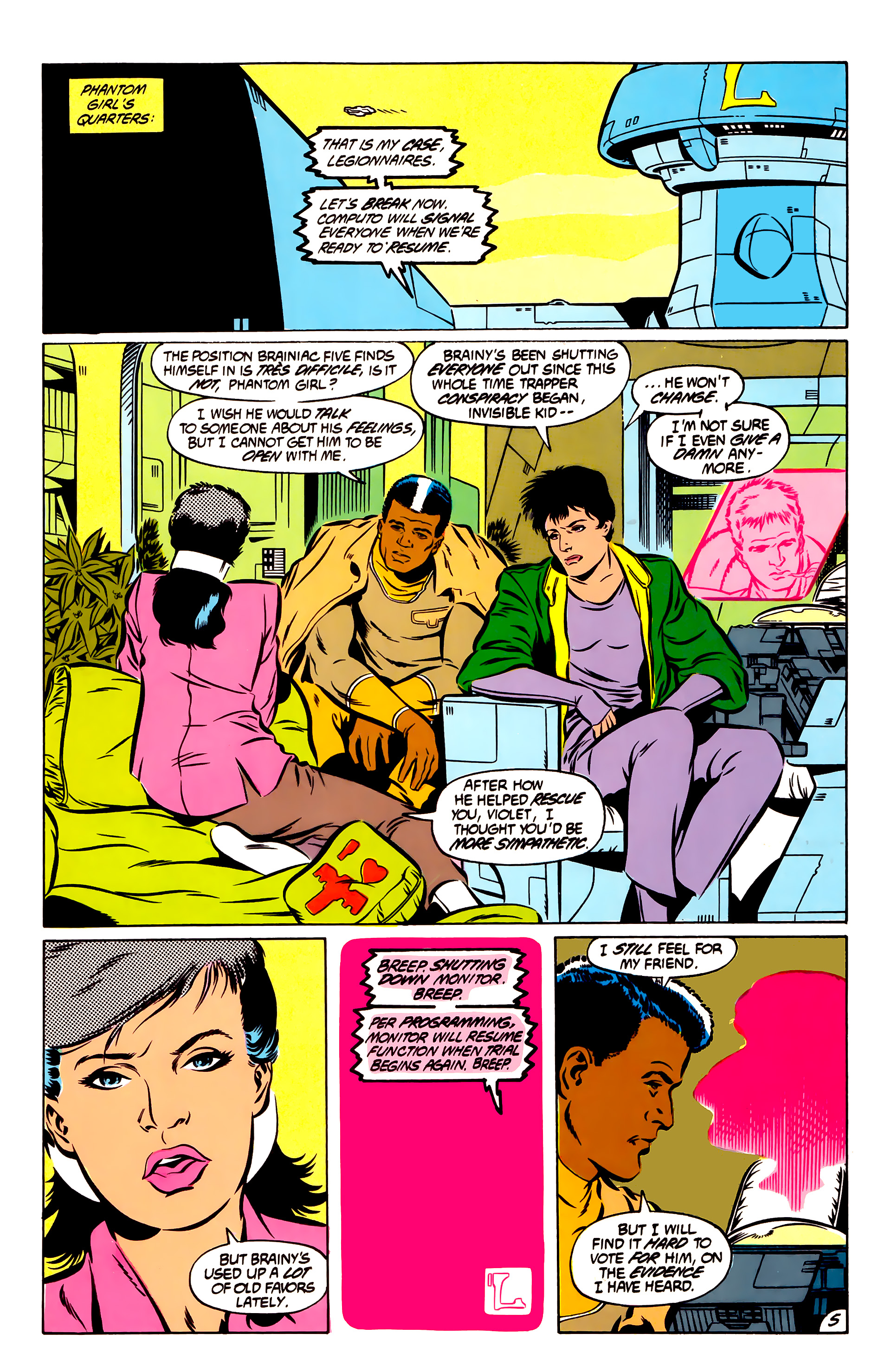 Legion of Super-Heroes (1984) 51 Page 5