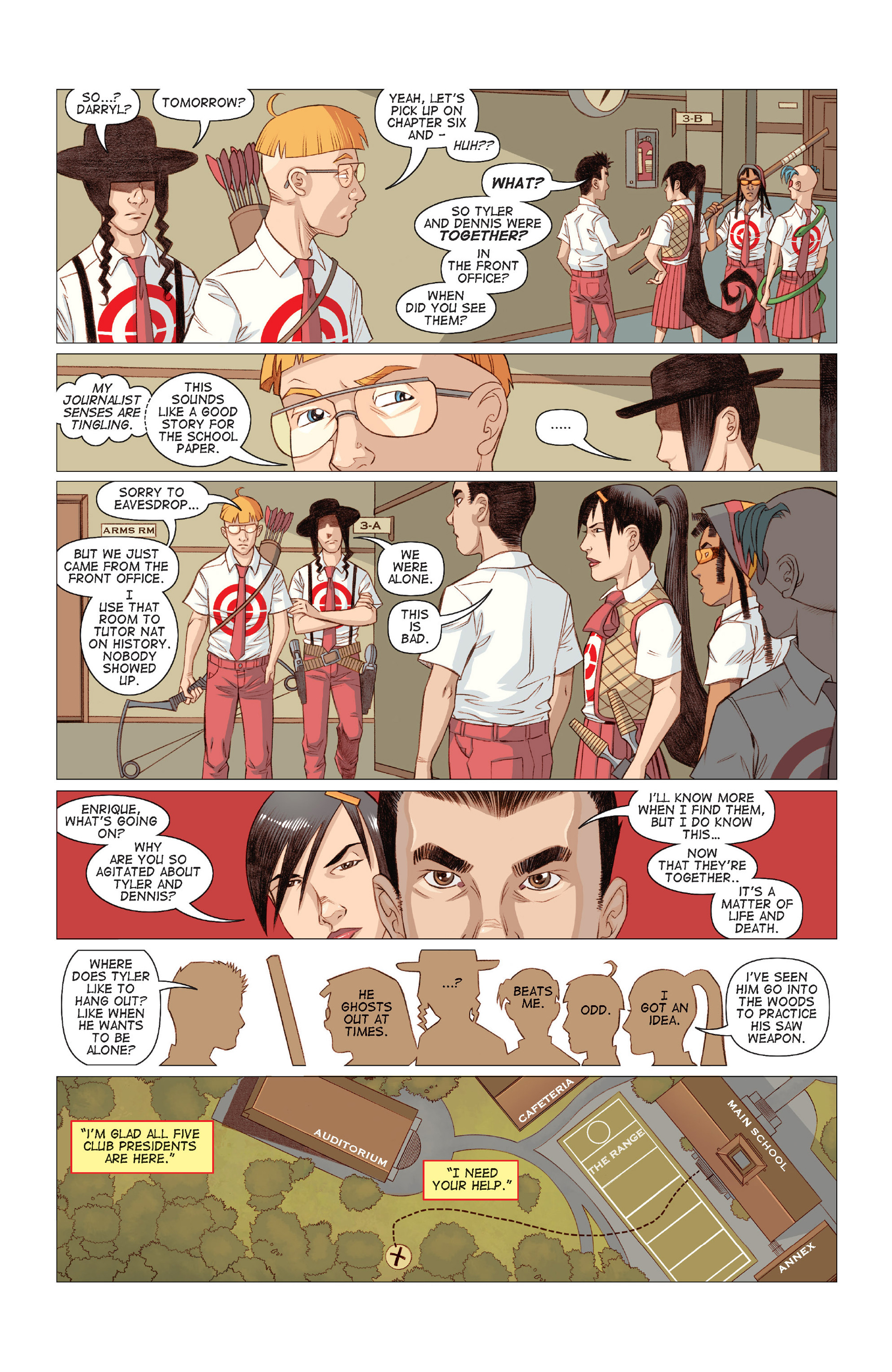Read online Five Weapons comic -  Issue #9 - 10