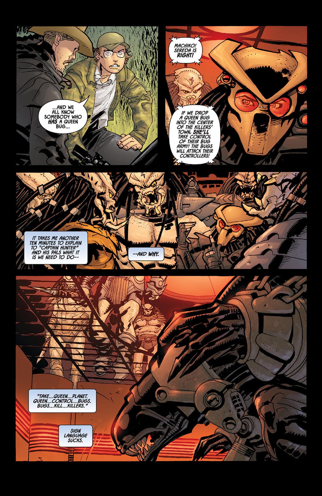 Read online Aliens vs. Predator: Three World War comic -  Issue #6 - 6