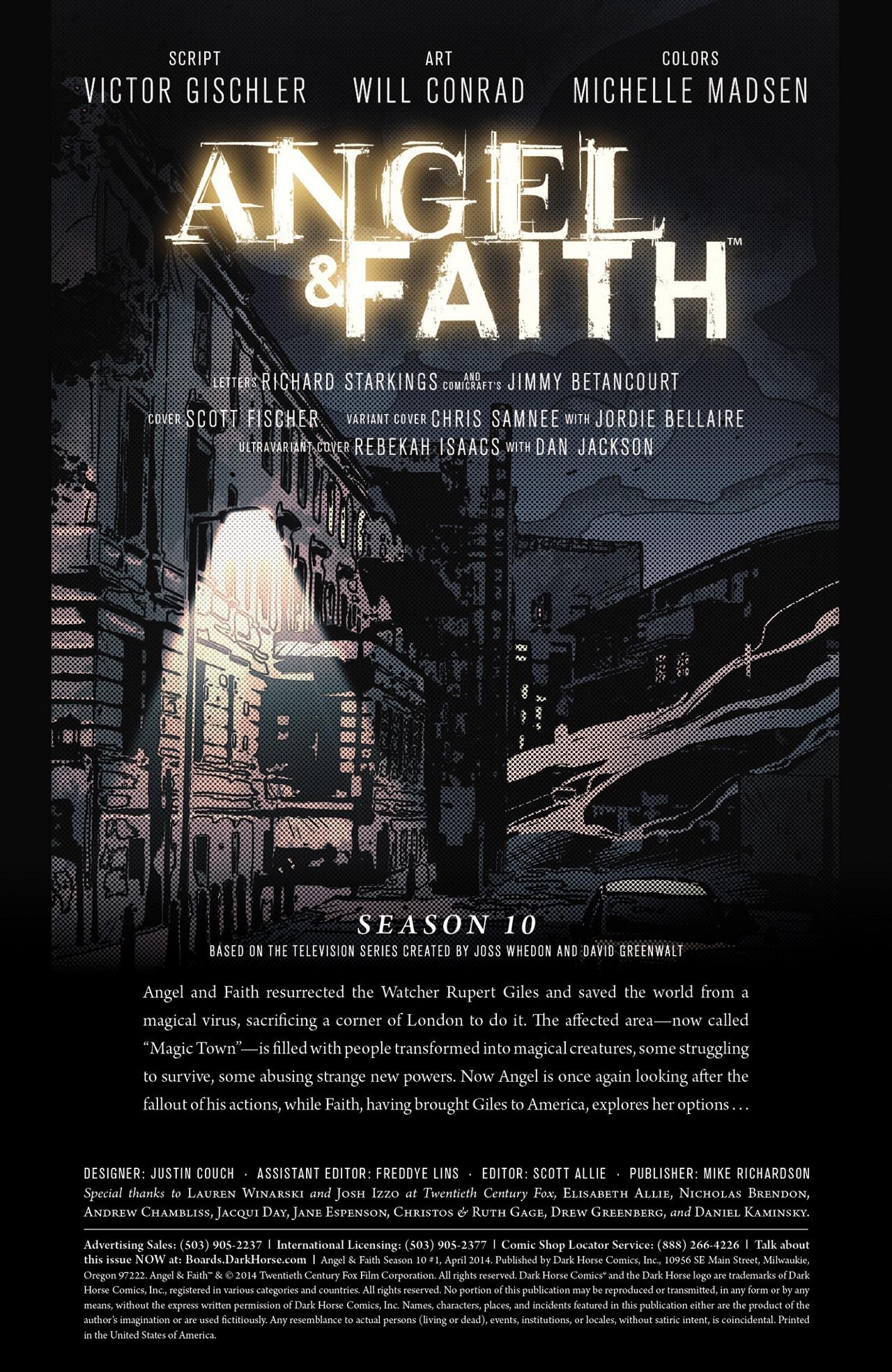 Read online Angel & Faith Season 10 comic -  Issue #1 - 2