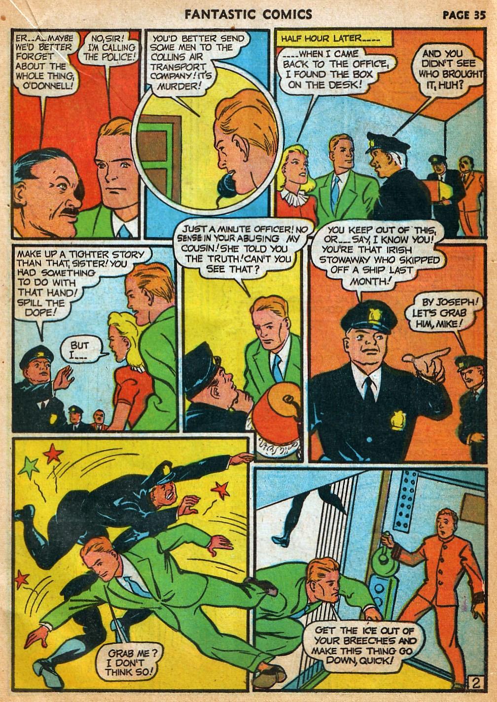 Read online Fantastic Comics comic -  Issue #22 - 36