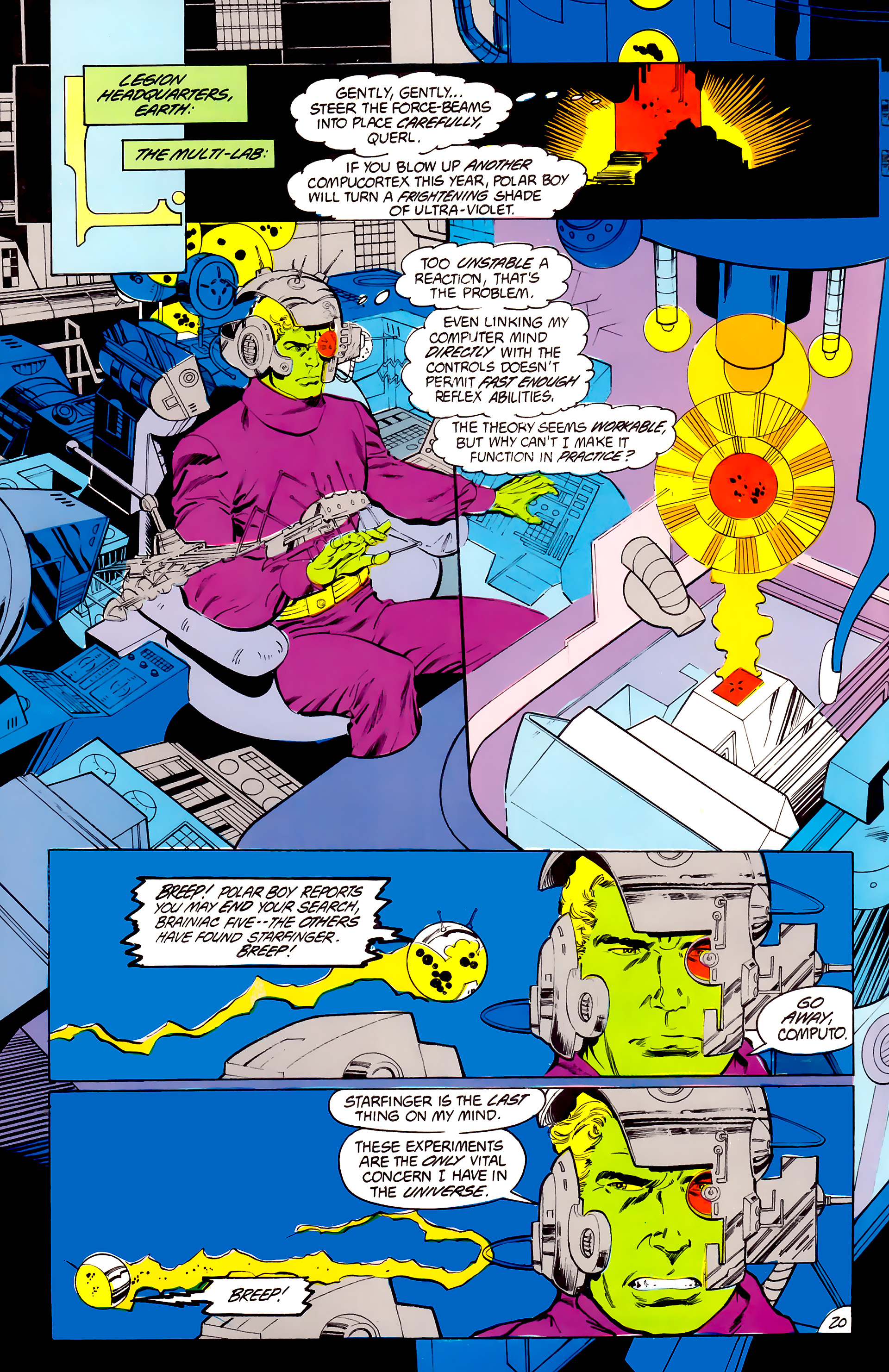 Legion of Super-Heroes (1984) 41 Page 20