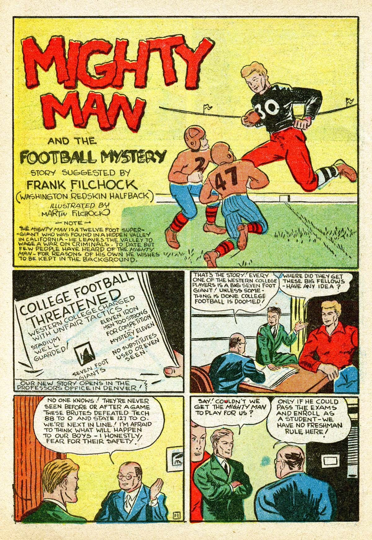 Read online Amazing Man Comics comic -  Issue #8 - 52