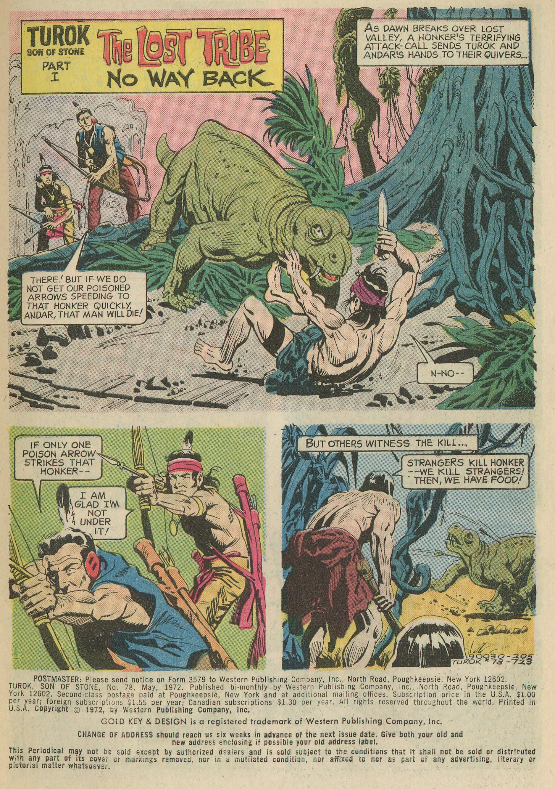 Read online Turok, Son of Stone comic -  Issue #78 - 3