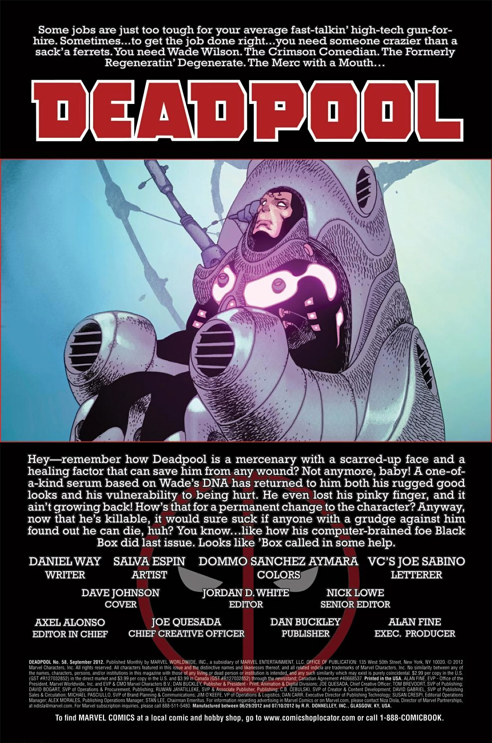 Read online Deadpool (2008) comic -  Issue #58 - 2