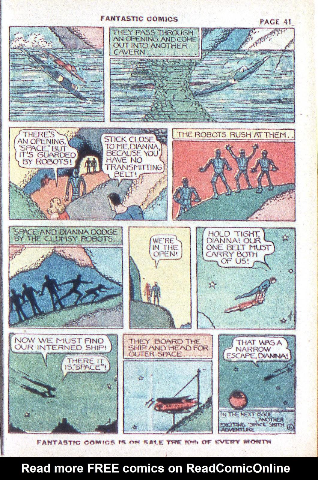 Read online Fantastic Comics comic -  Issue #3 - 43