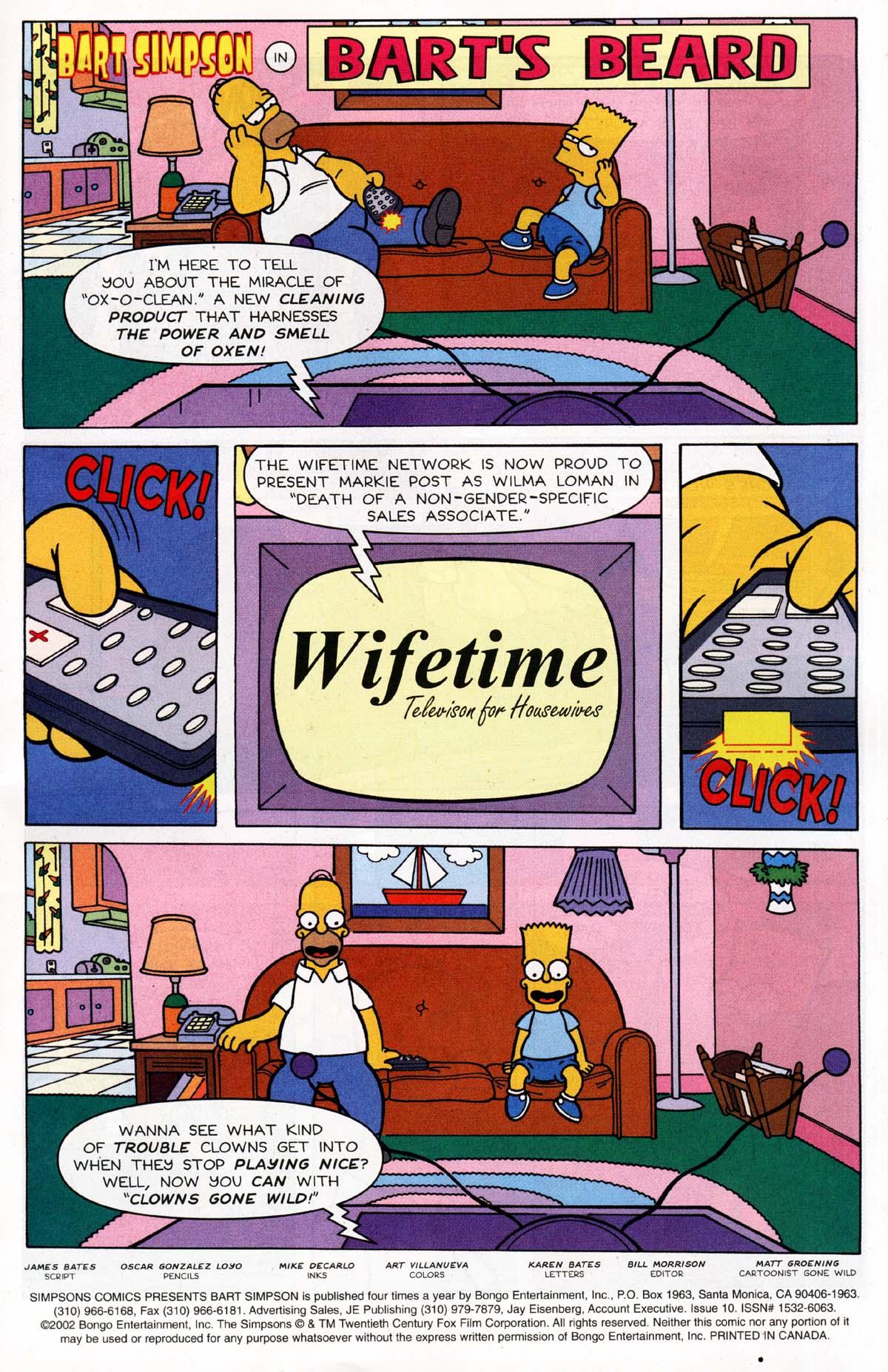 Read online Simpsons Comics Presents Bart Simpson comic -  Issue #10 - 2