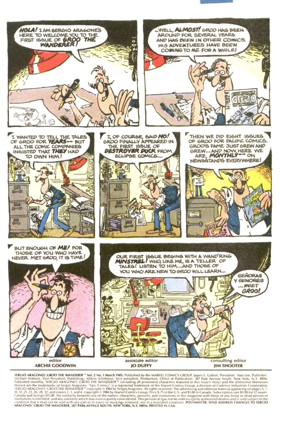 Read online Sergio Aragonés Groo the Wanderer comic -  Issue #1 - 2