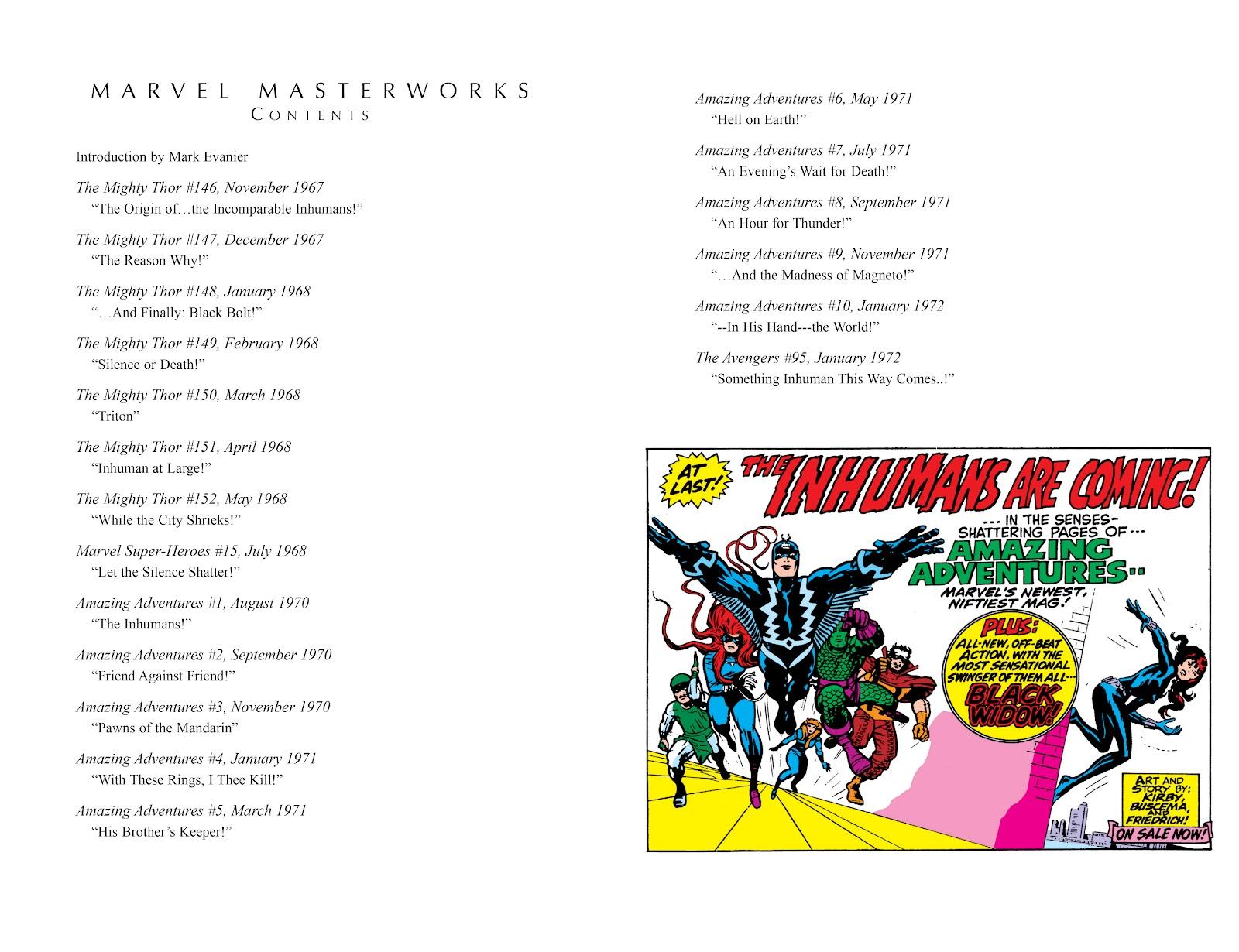Read online Marvel Masterworks: The Inhumans comic -  Issue # TPB 1 (Part 1) - 4
