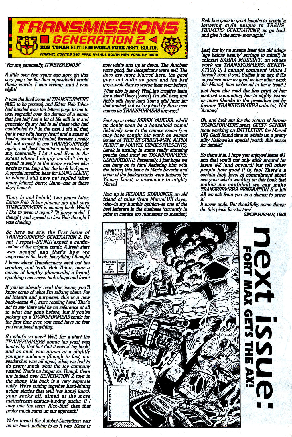 Read online Transformers: Generation 2 comic -  Issue #1 - 36