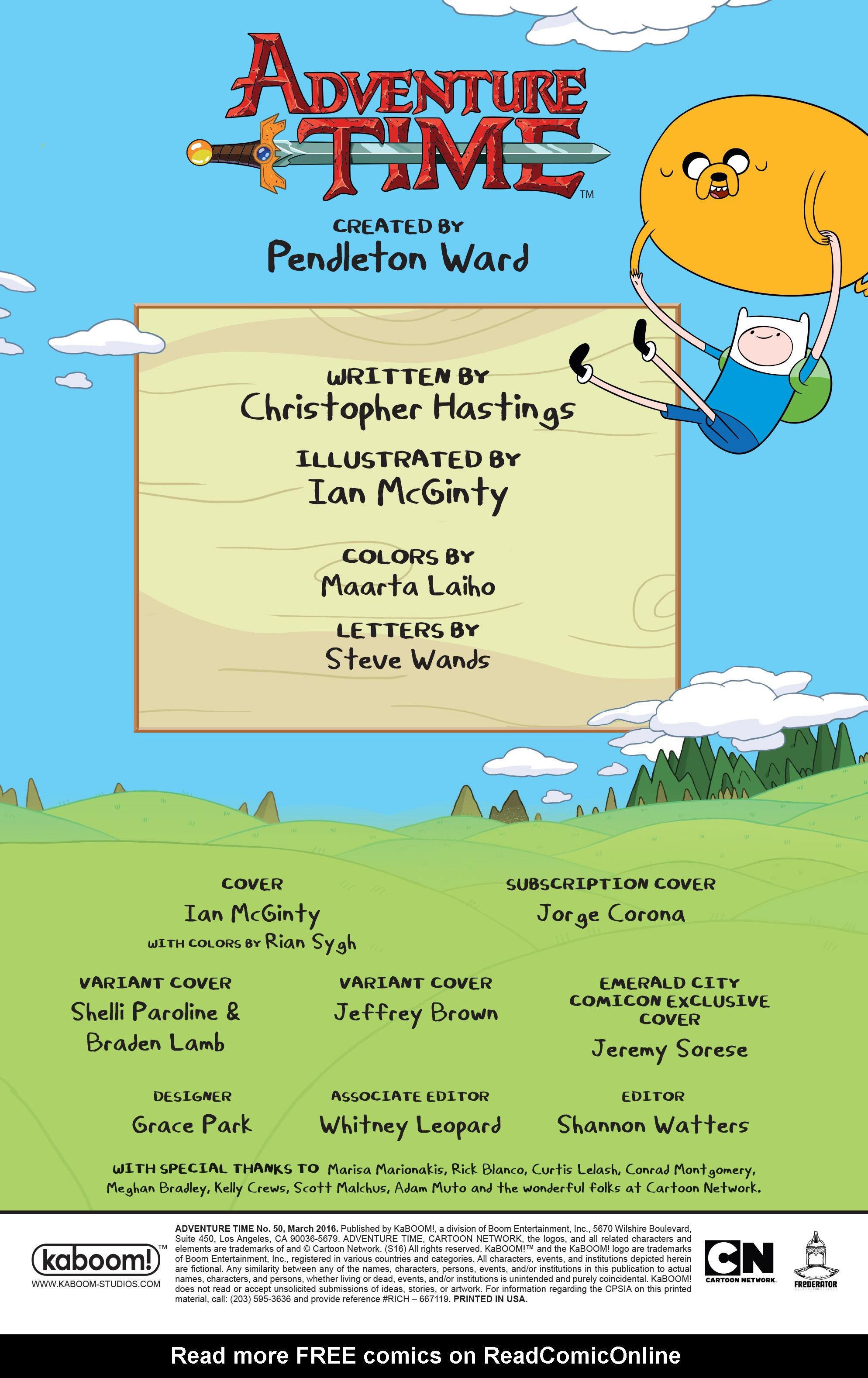 Read online Adventure Time comic -  Issue #50 - 2