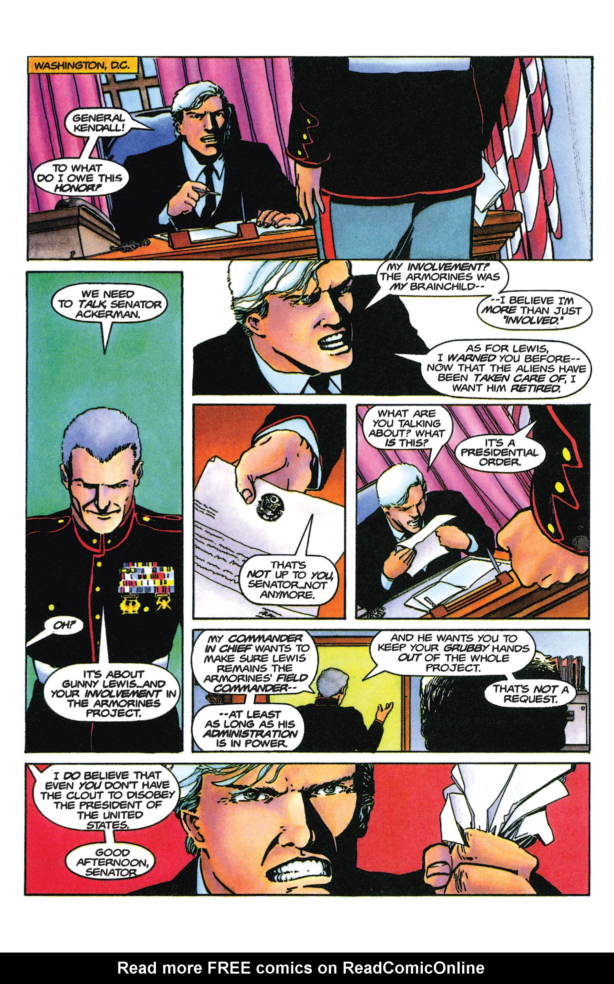 Read online Armorines comic -  Issue #9 - 16