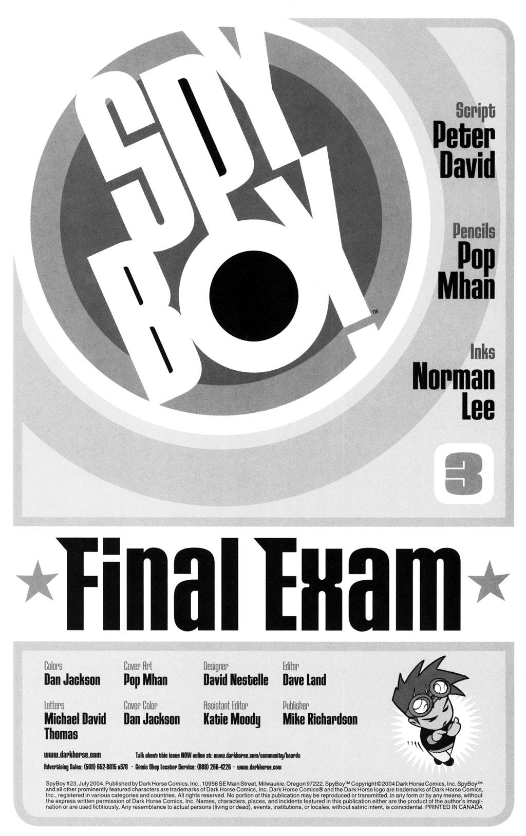 Read online SpyBoy: Final Exam comic -  Issue #3 - 2