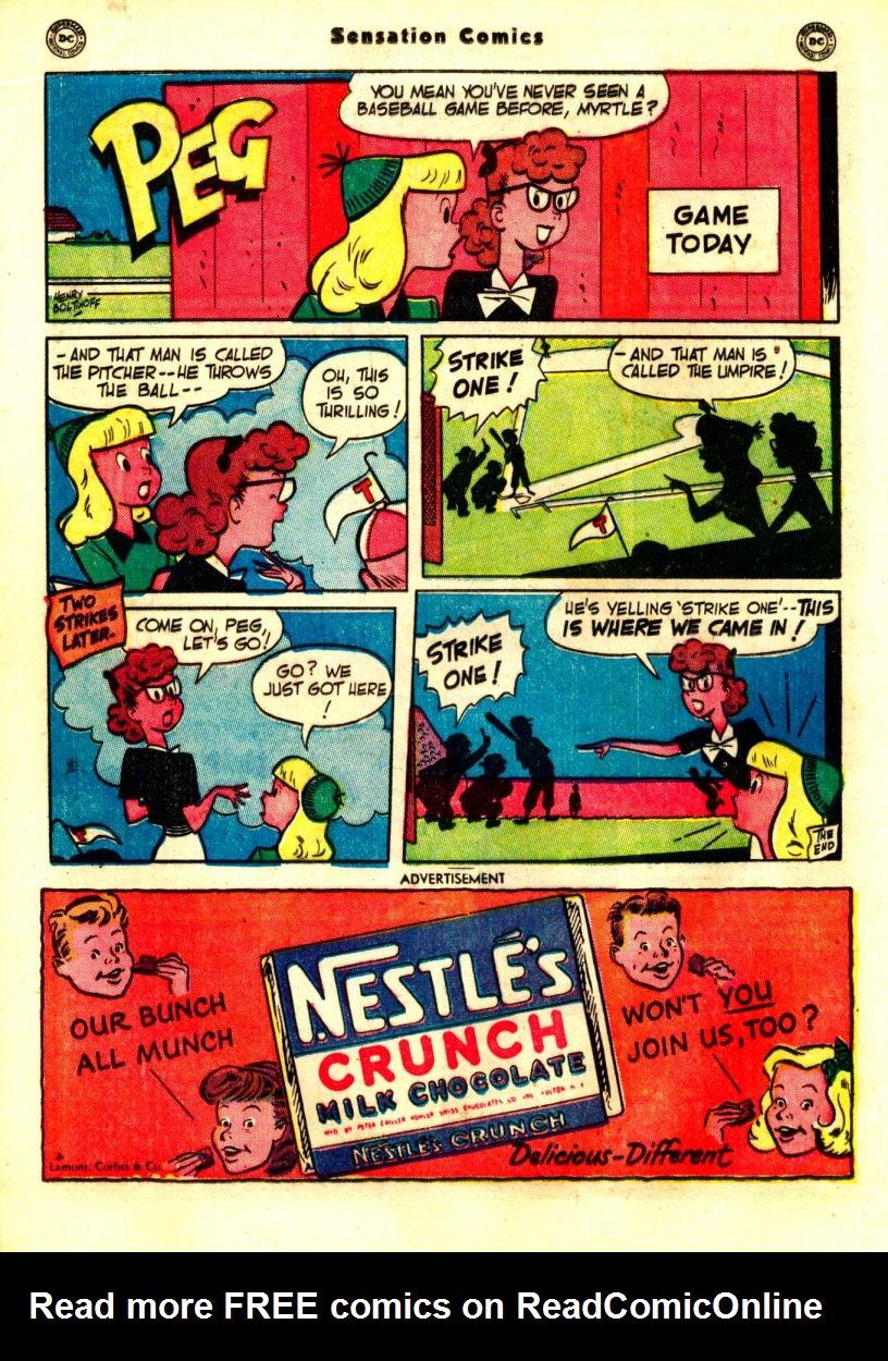 Read online Sensation (Mystery) Comics comic -  Issue #99 - 28