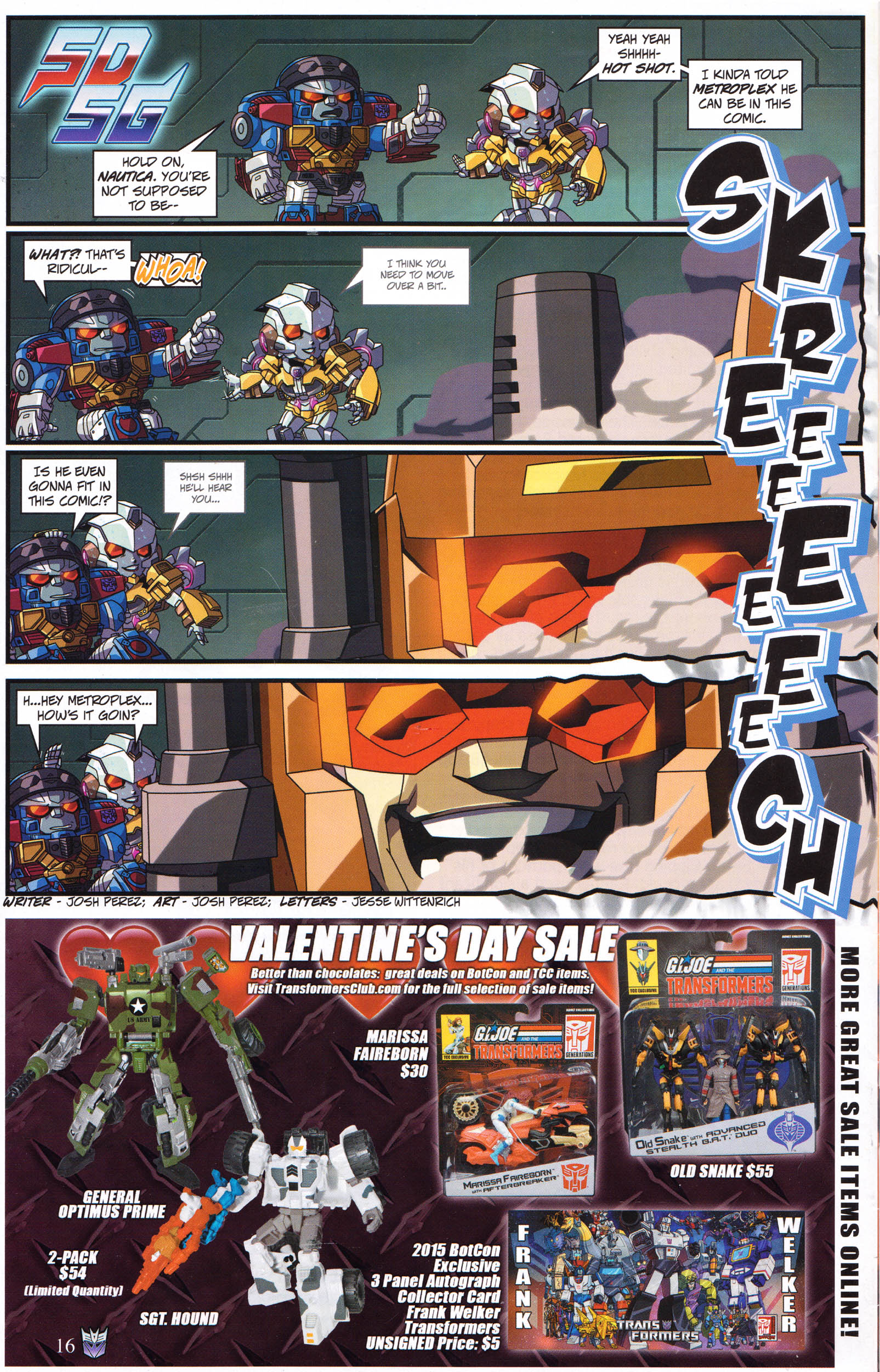 Read online Transformers: Collectors' Club comic -  Issue #67 - 16