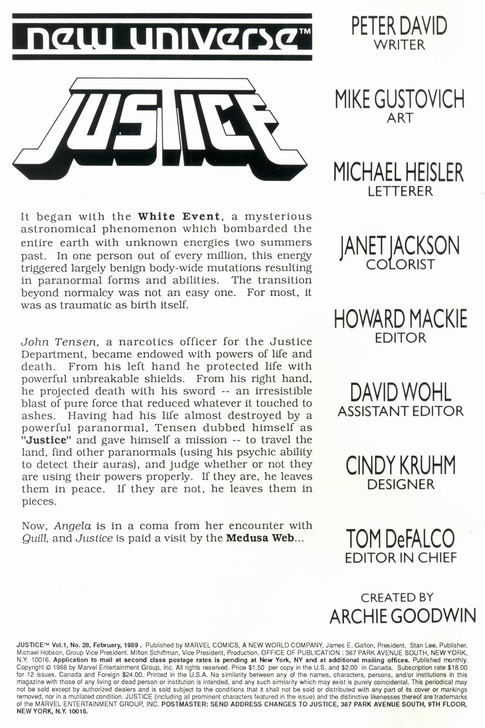 Read online Justice (1986) comic -  Issue #28 - 2