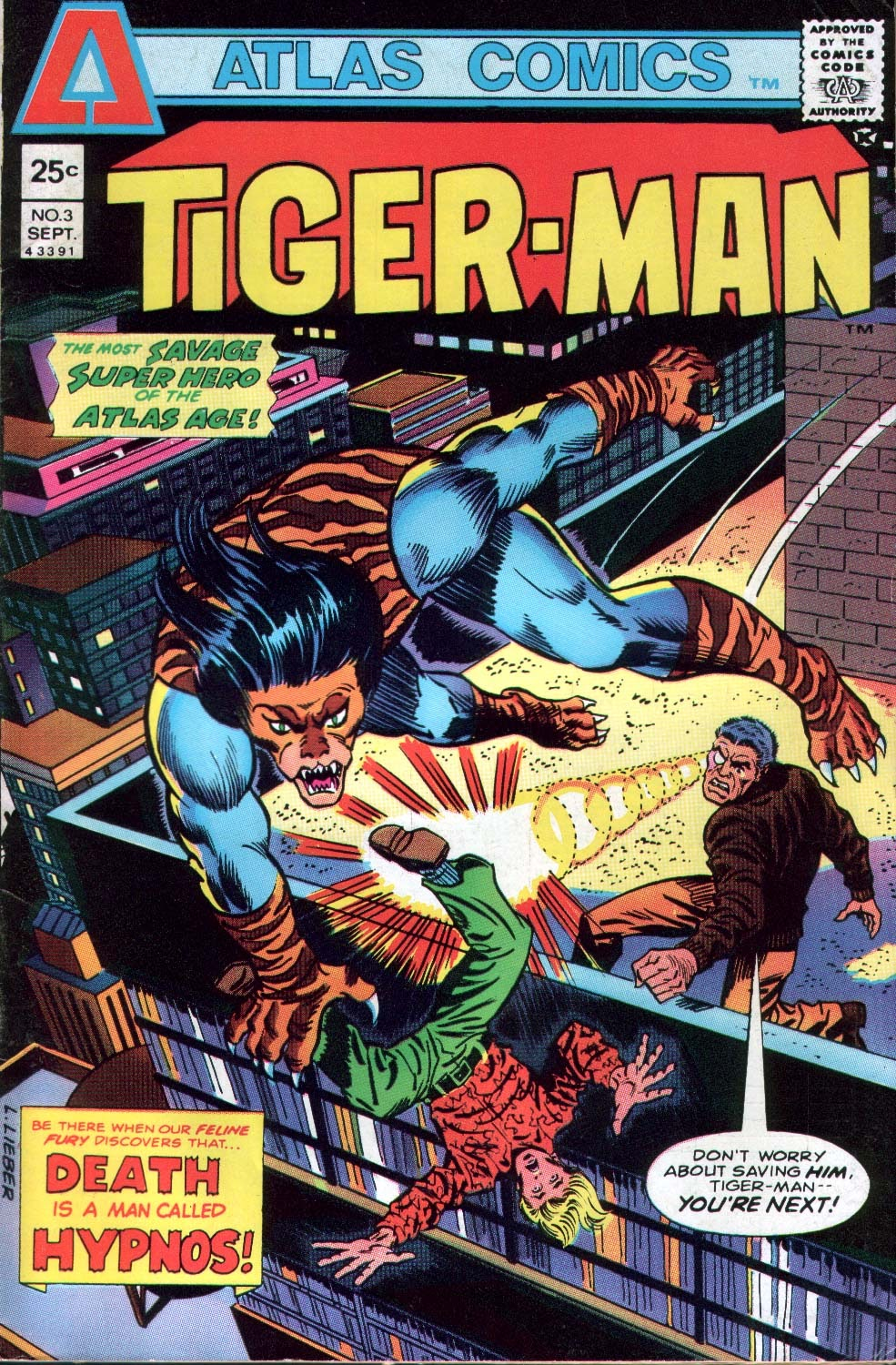 Read online Tiger-Man comic -  Issue #3 - 1