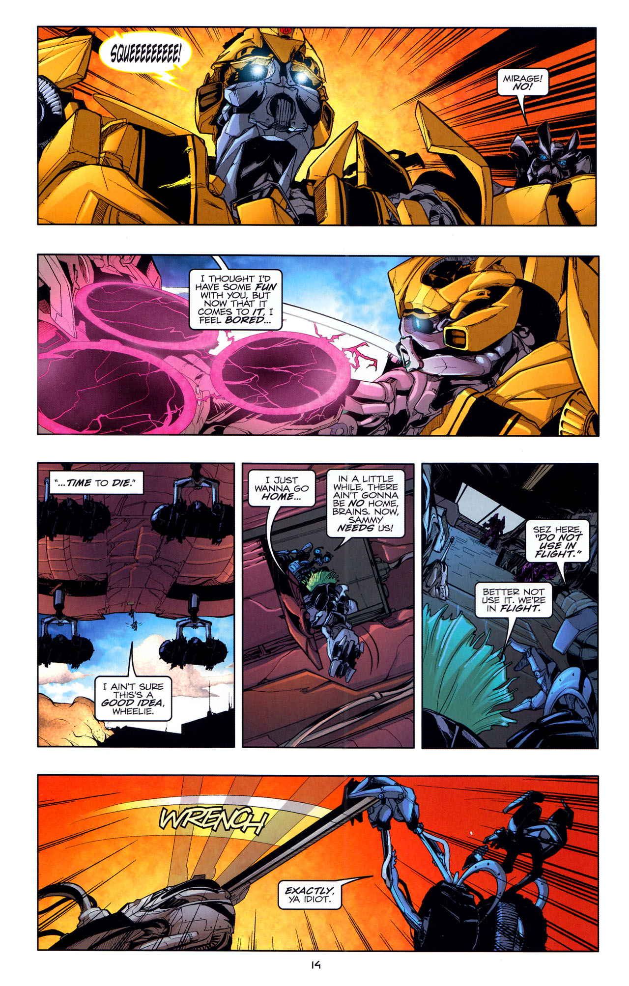 Read online Transformers: Dark of the Moon Movie Adaptation comic -  Issue #4 - 16